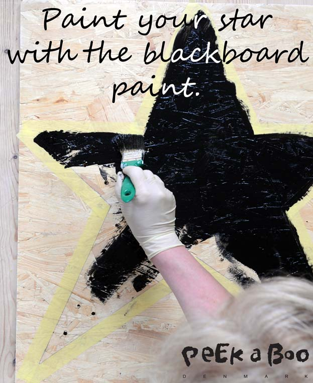 Paint your star with the blackboard paint.