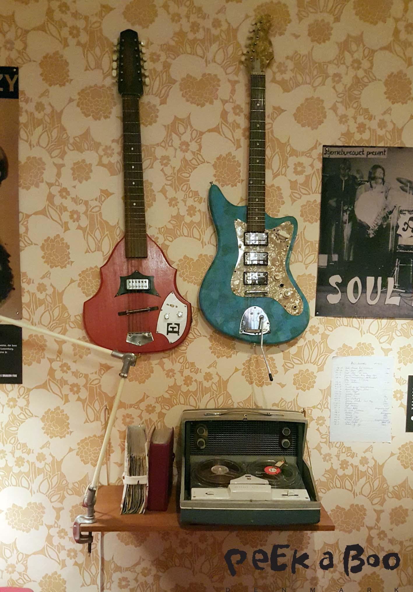 Rock museet i den gamle by- Her var stuer fra 70'erne og masser af musik fra Århus, storhedstid indenfor musikken.