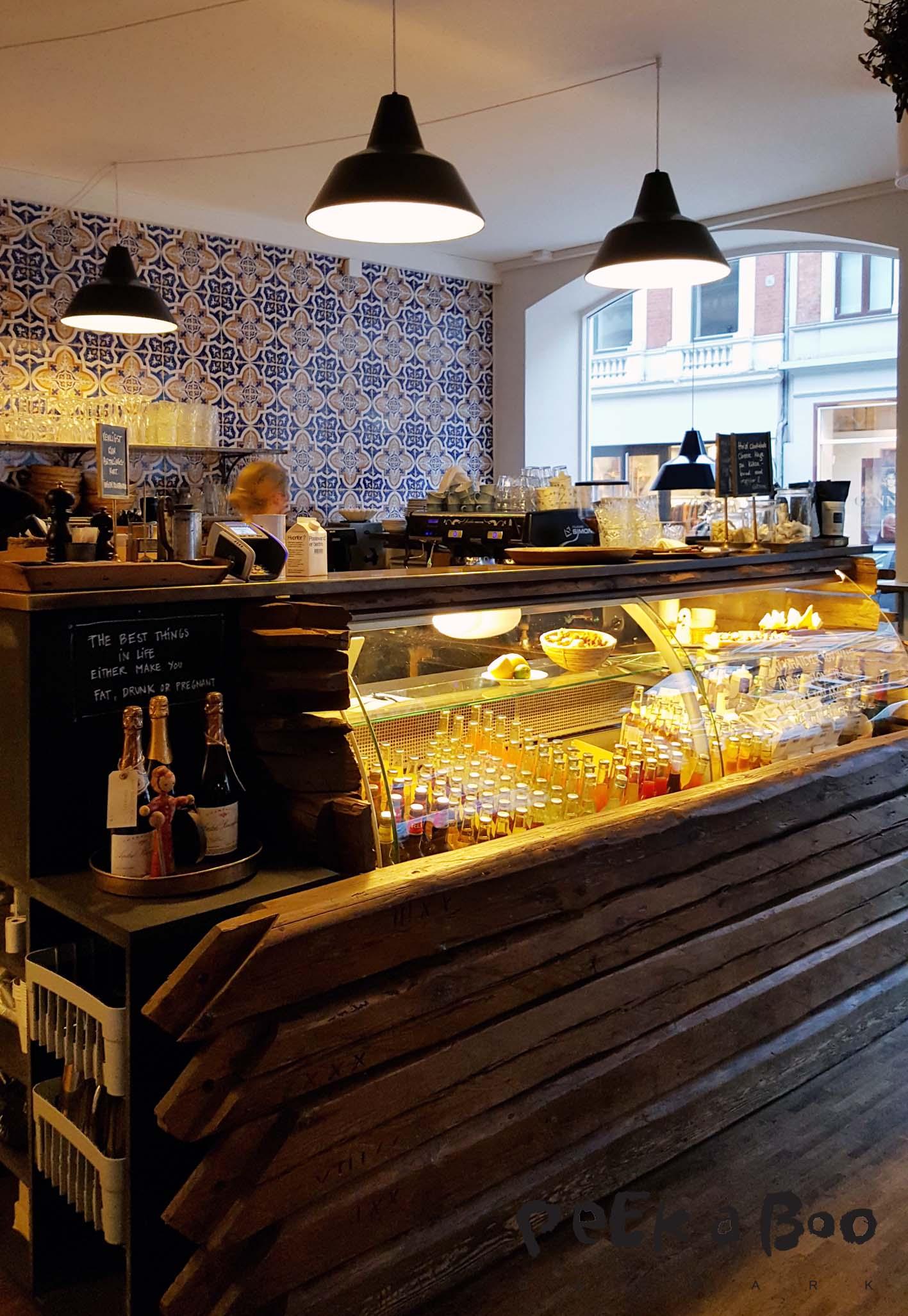 Langhoff & Juul butik og restaurant i Guldsmedegade i Århus.