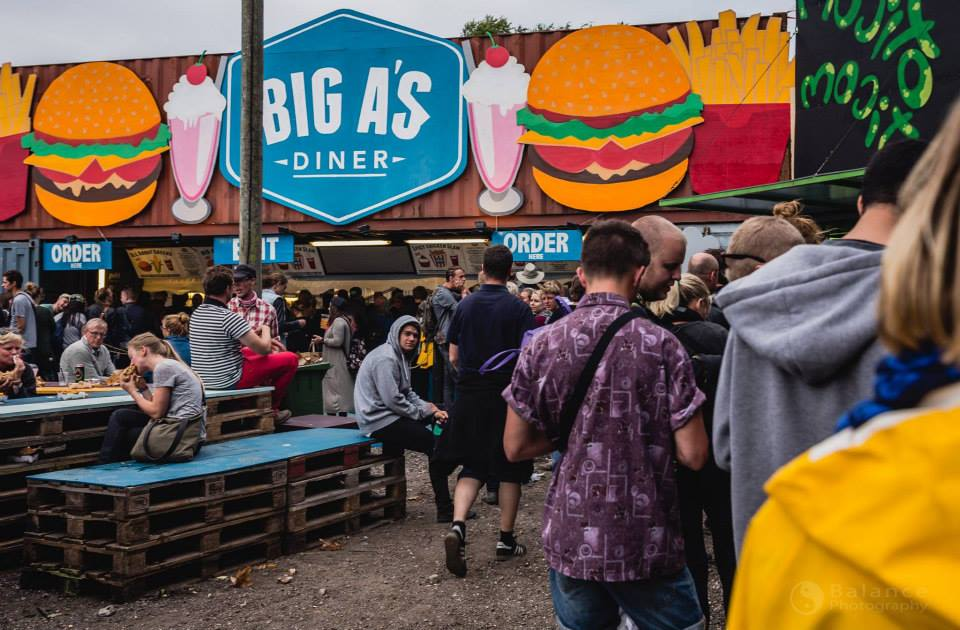 Big A' s burger at Roskilde 2015.