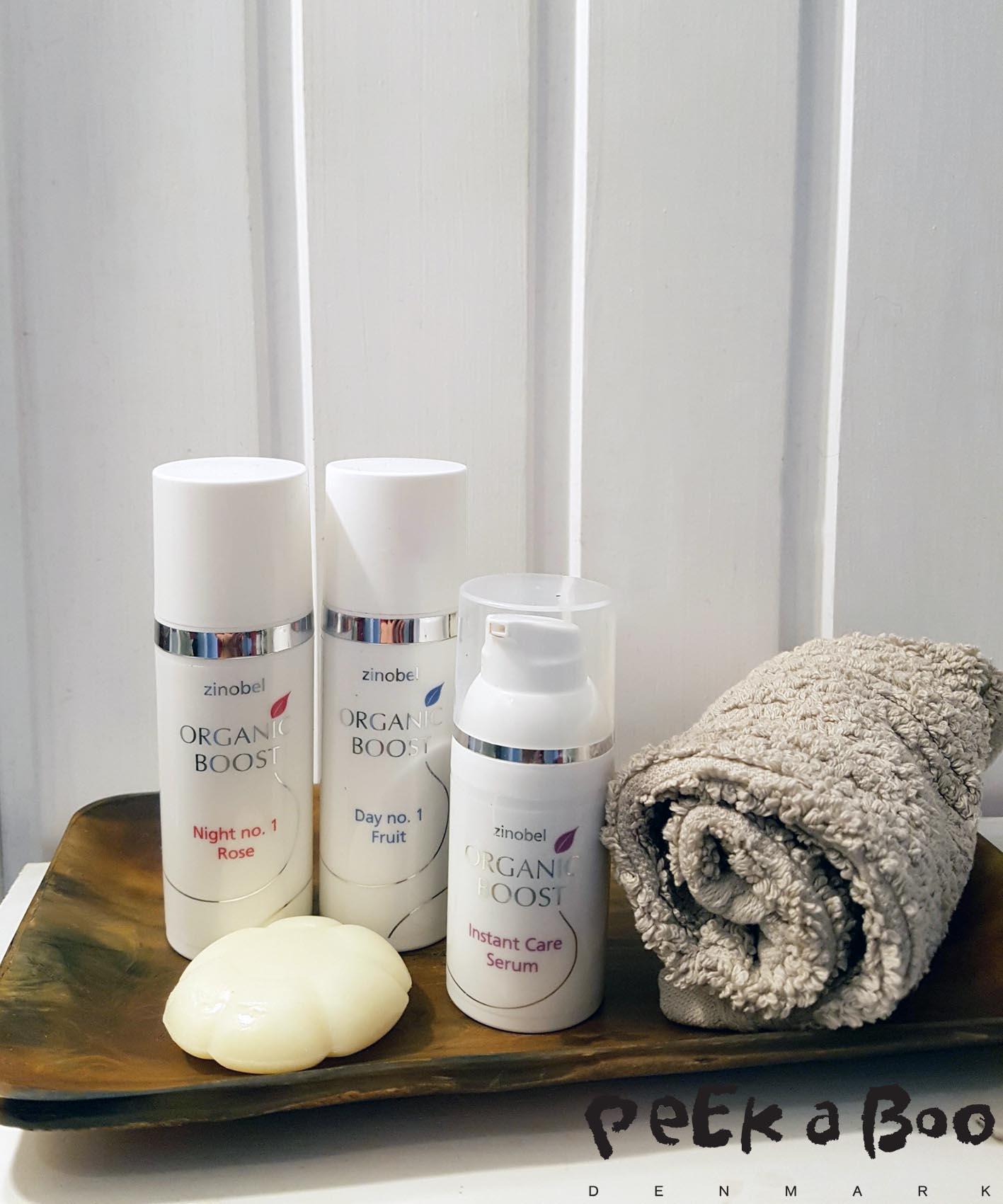 Zinobel anti-aging serum, day cream and night cream.