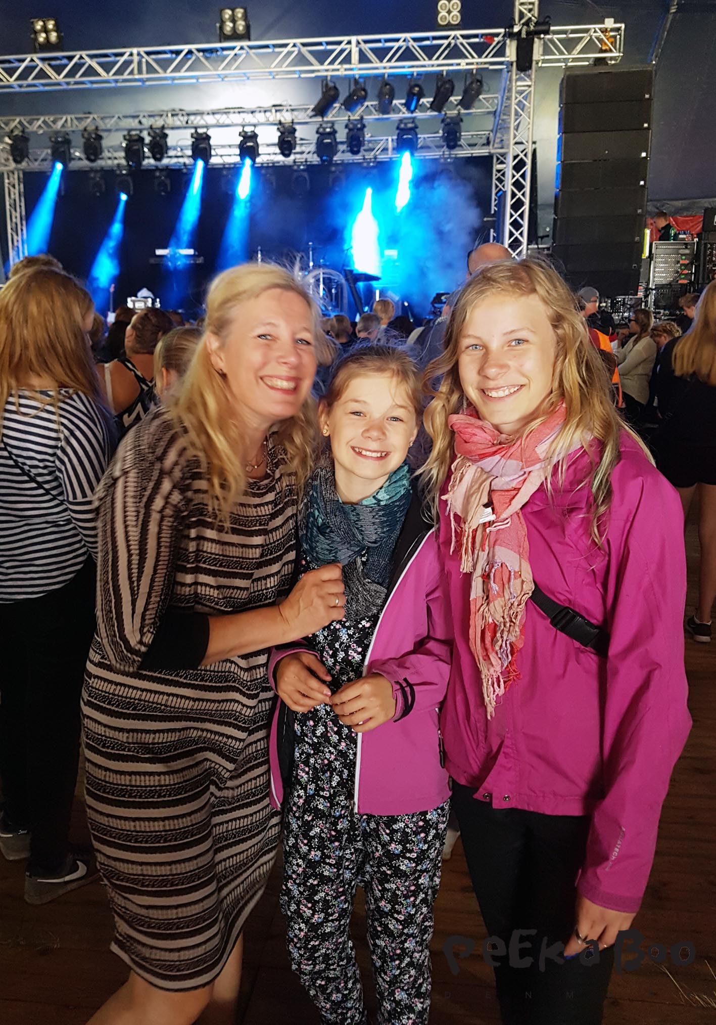 Me and my daughters at Vig festival 2016.