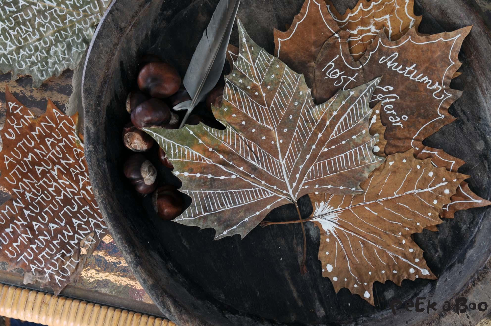 Autum feeling with DIY leafs
