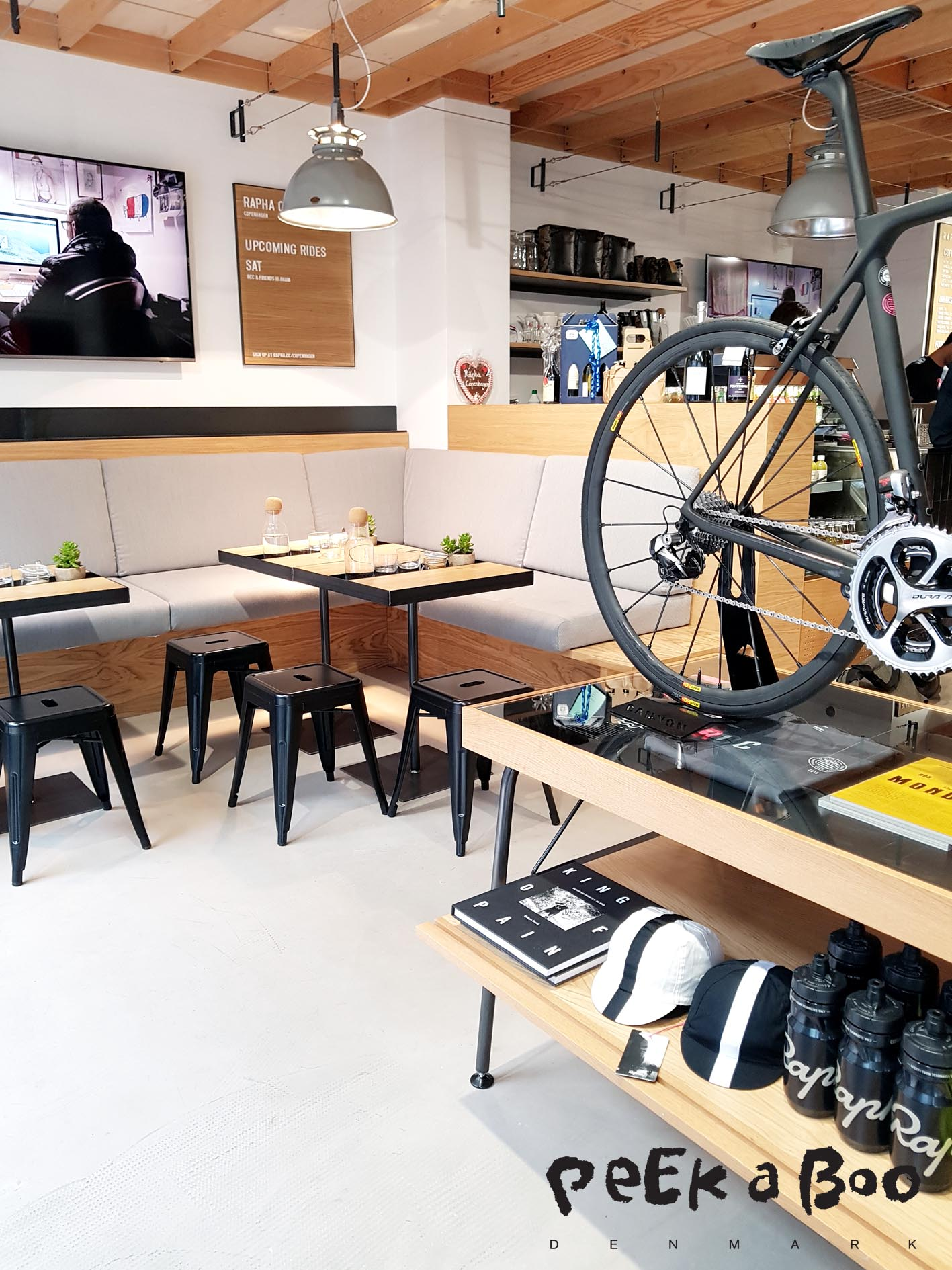 The new Rapha shop in the center of Copenhagen.