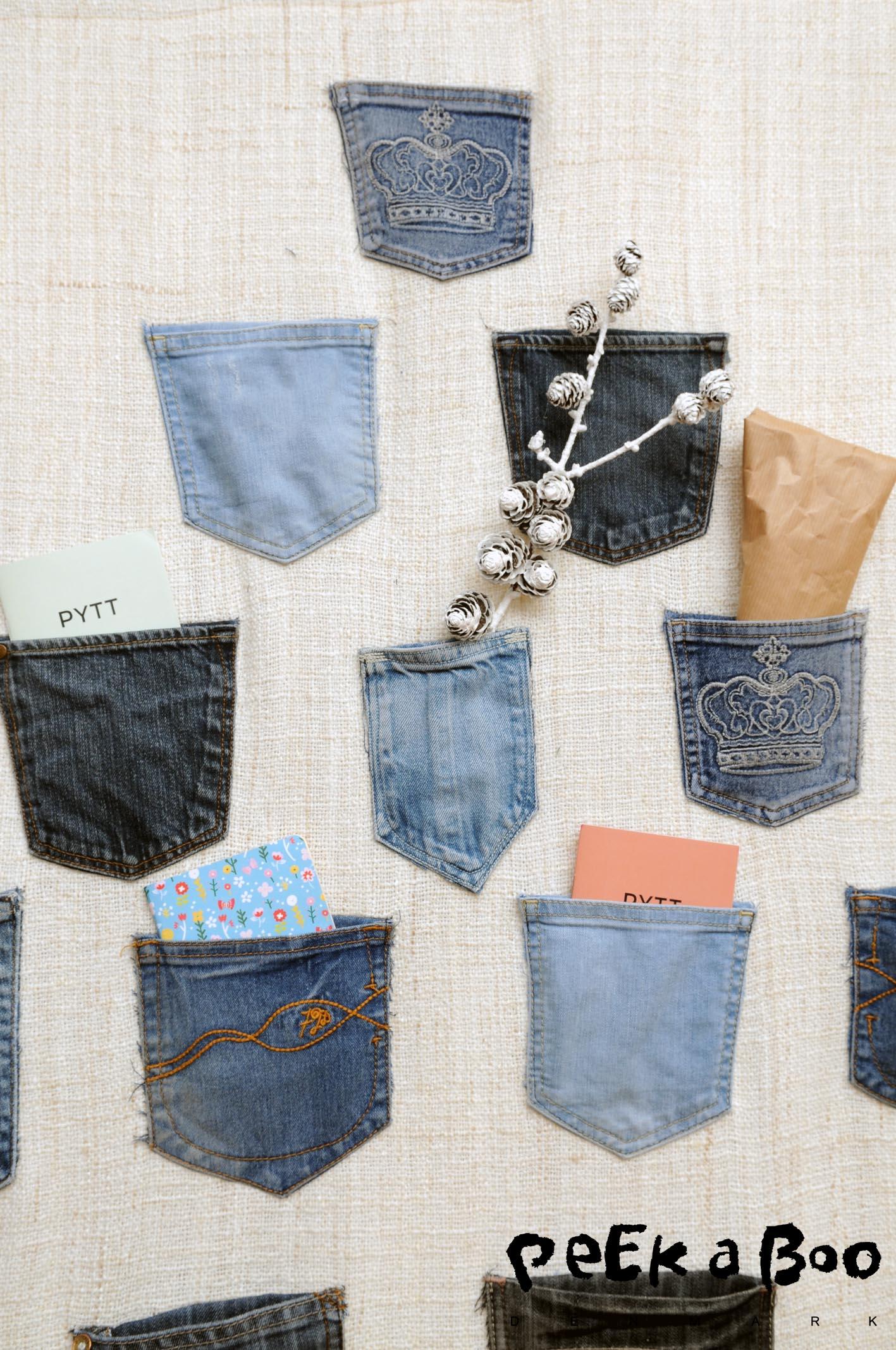 Fyld lommerne med små gaver, søde beskeder og lidt julepynt når de er blevet tømt.
