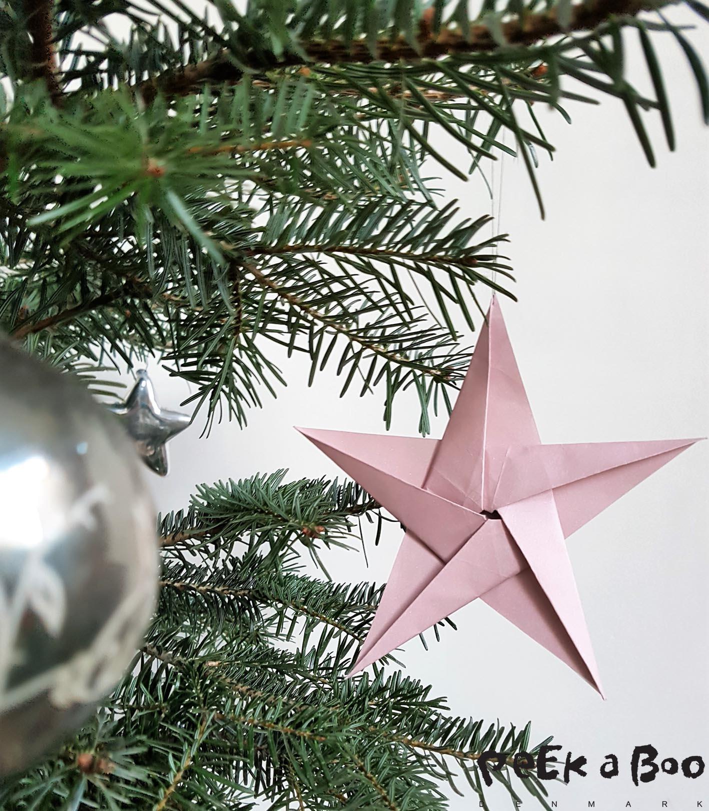 5 pointed origami star, 5 benet origami stjerne.
