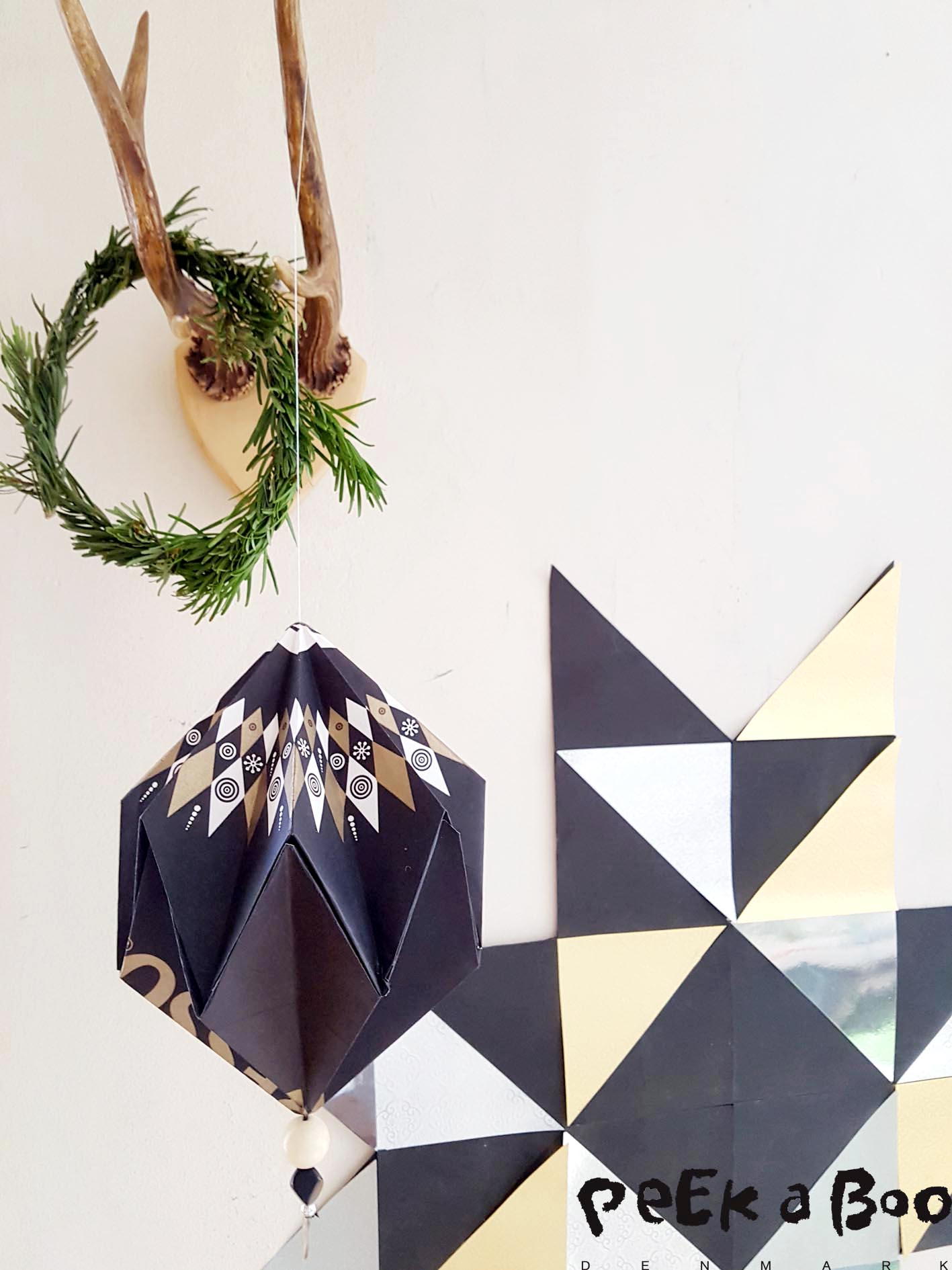 My home in black and metallic DIY Christmas Decor.