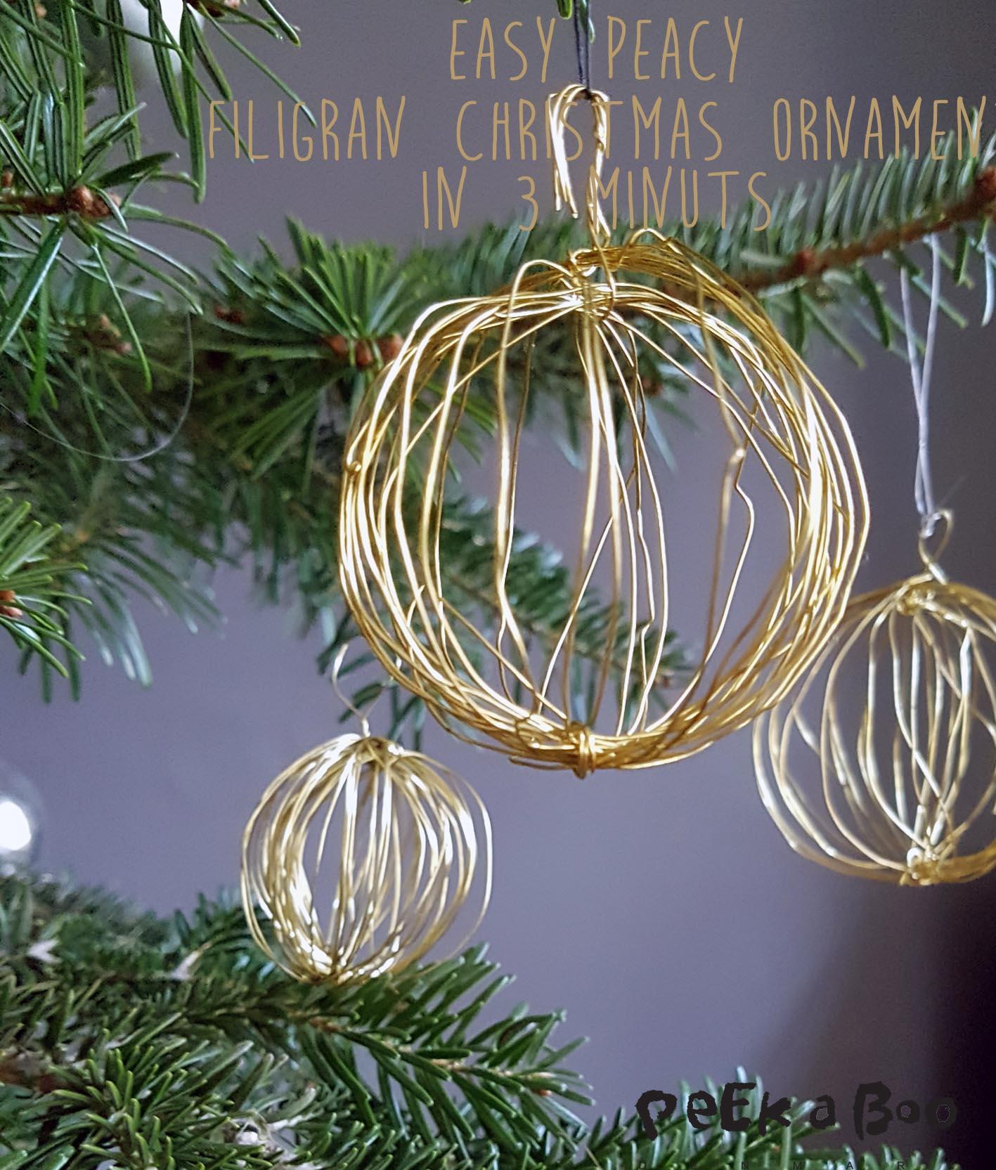 Easy peacy filigran christmas ornament.