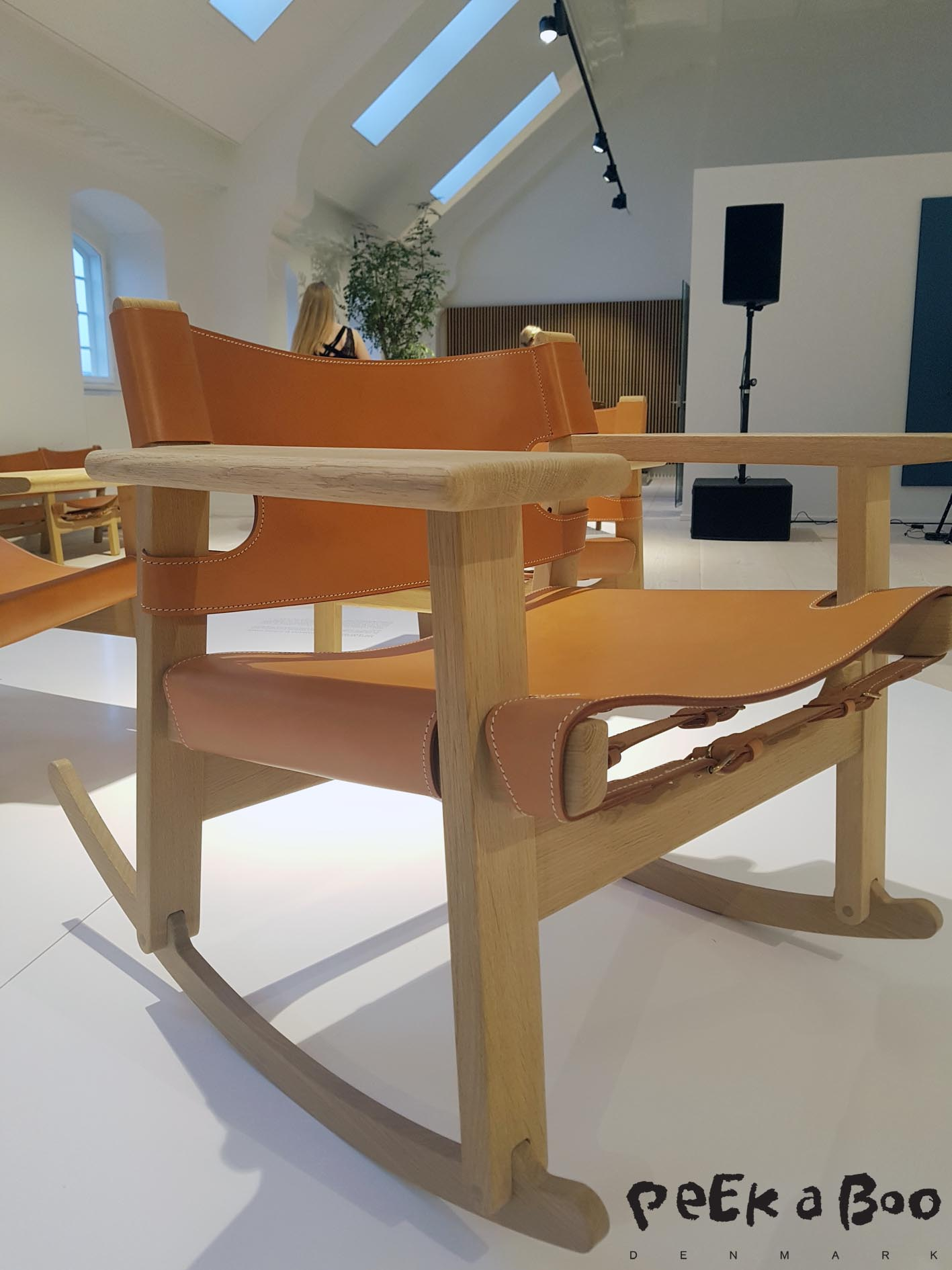 And the spanish chair as a rocking chair by Alfredo Haberli from Børge Mogensen's 100 years anniversary in 2014.