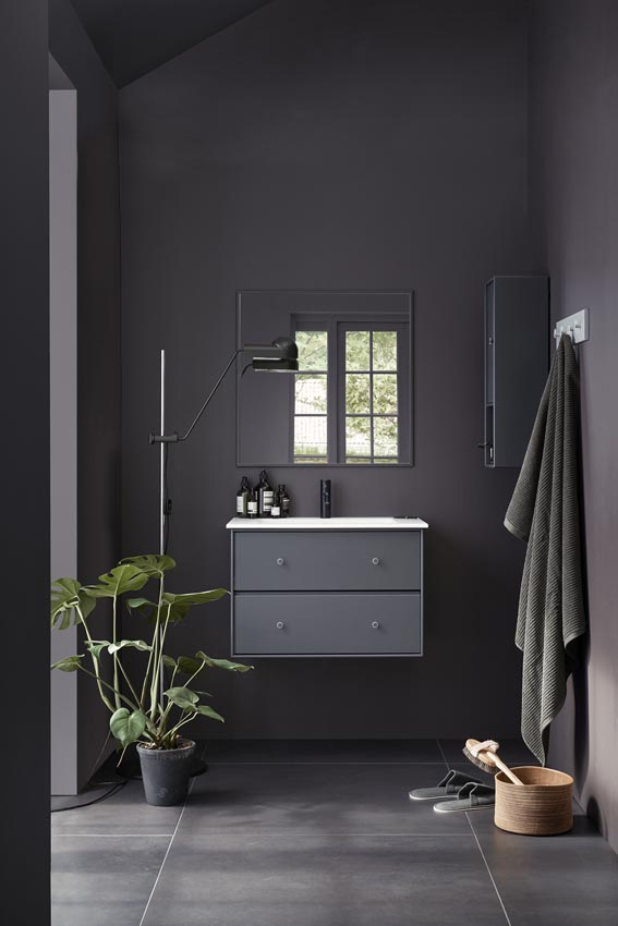 Montana bathroom module in a delicate dark hues.
