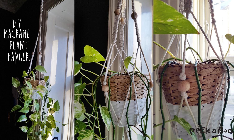 Macramé plant hanger from the workshop...