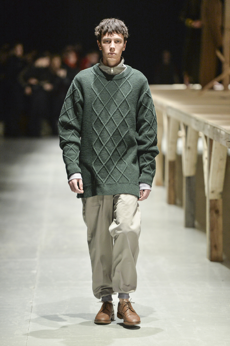 I have a soft spot for knitwear and this sweater is really a must have in any mans wardrobe. Photo credit: Copenhagenfashionweek