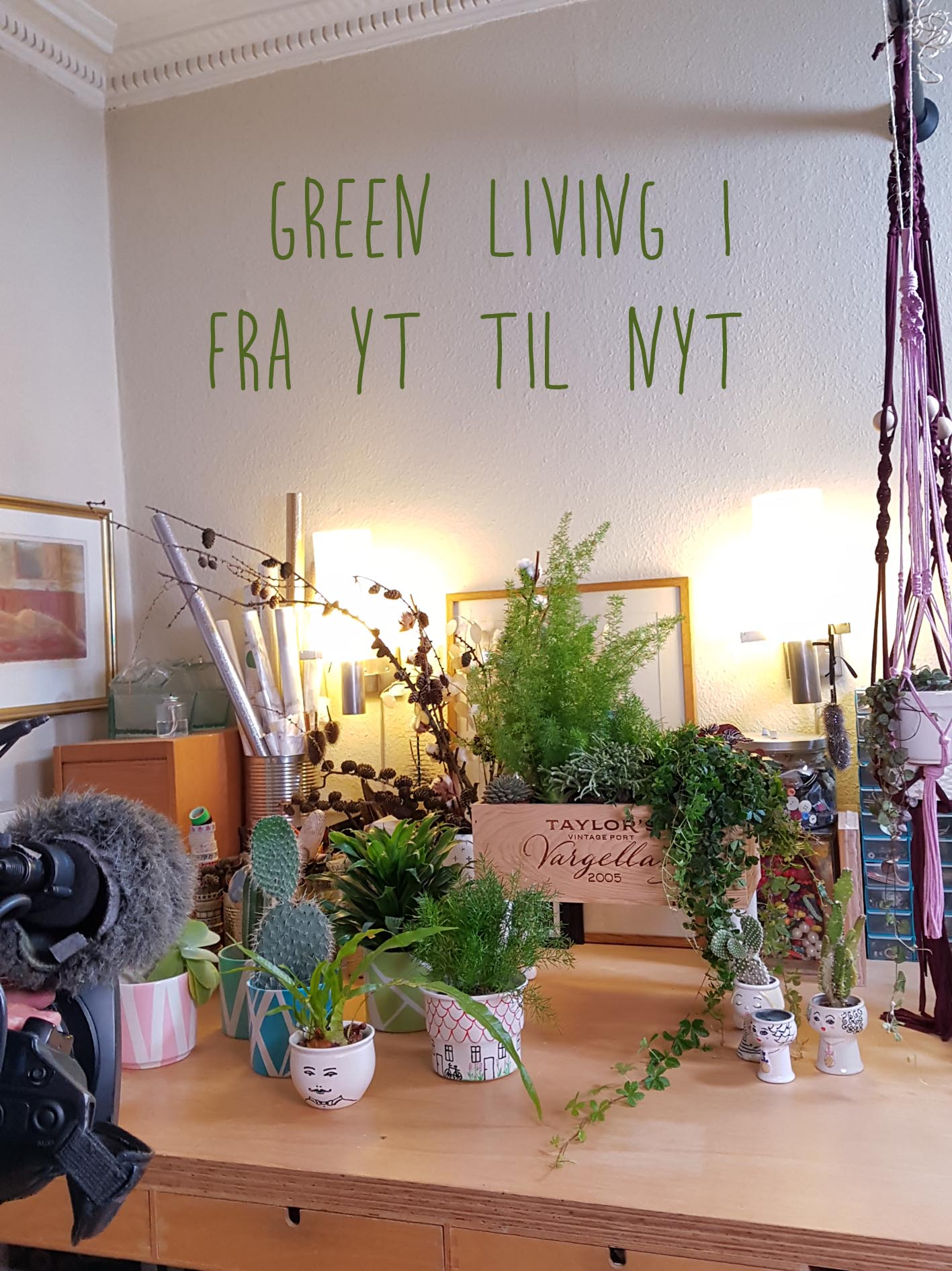 green living, I'm showing how to upcycle your old pots and wineboxes to become plant containers.