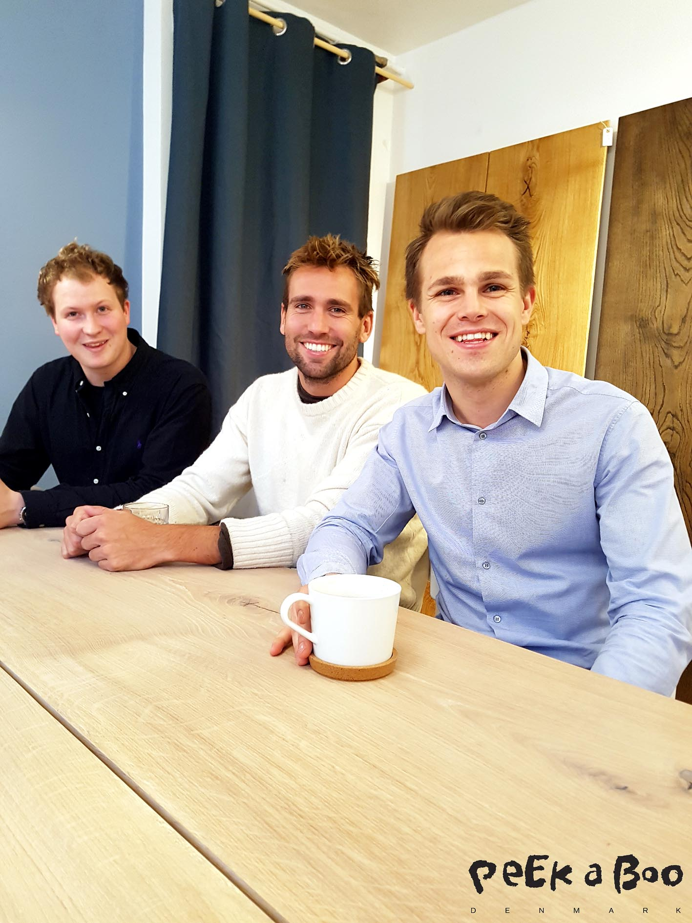from your left Lasse Salmonsen, Kristian Gutte and Alexander Ploug from the danish interior brand Ent Copenhagen.