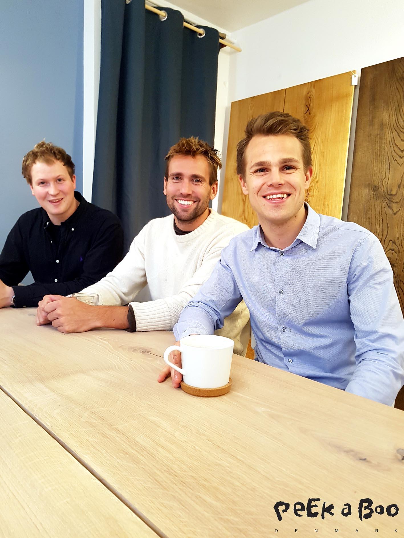 from your left Lasse Salmonsen, Kristian Gutte and Alexander Ploug from the danish interior brand Ent Copenhagen.