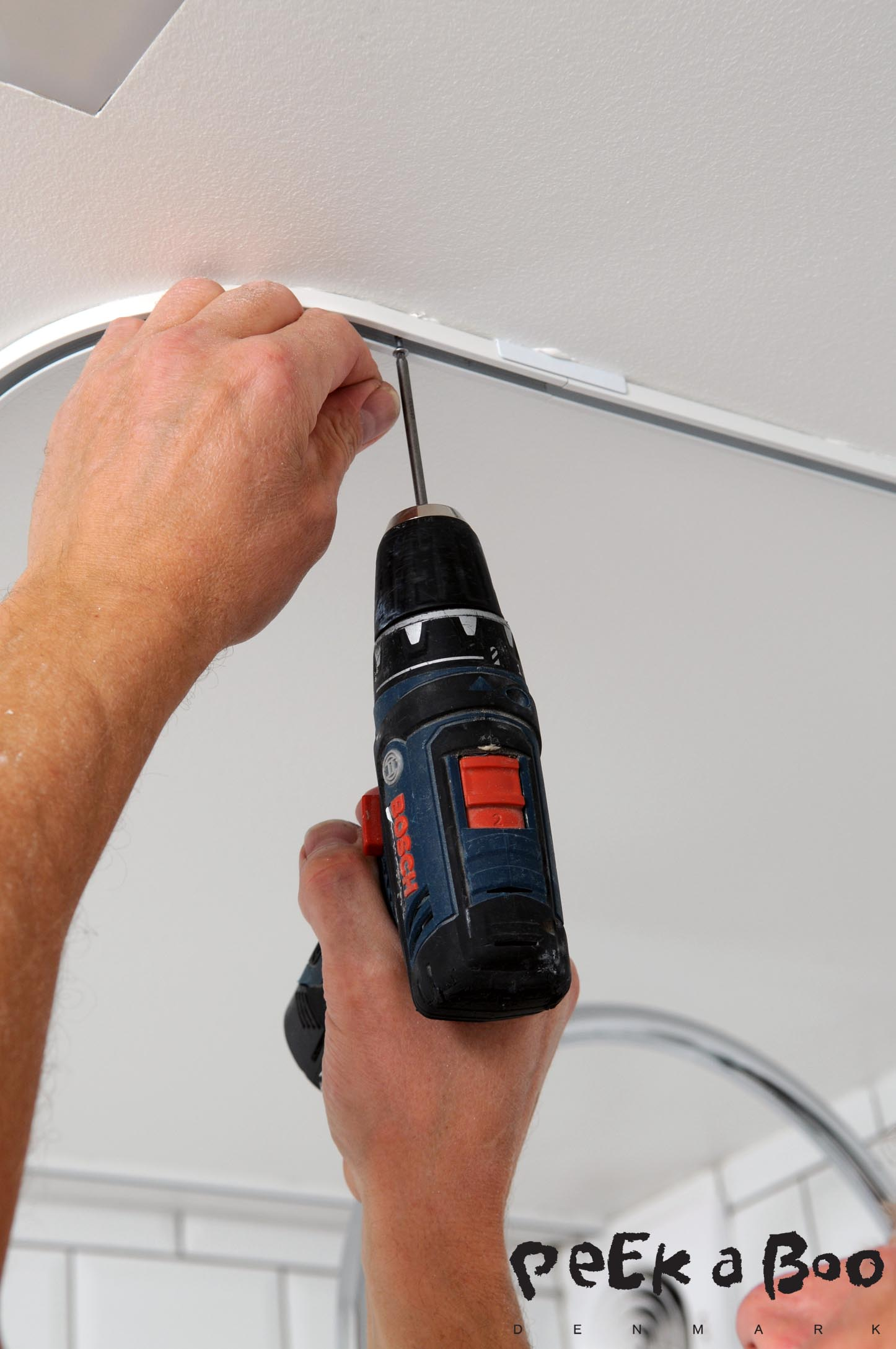 add a screw to make it extra strong, the curtains gets quet heavy when they gets wet.