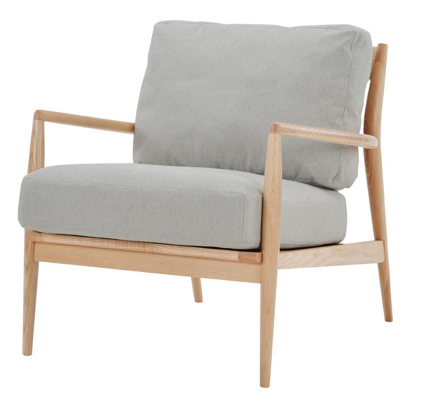 this chair also comes as a twoseater...very nordic, simple and comfortable-