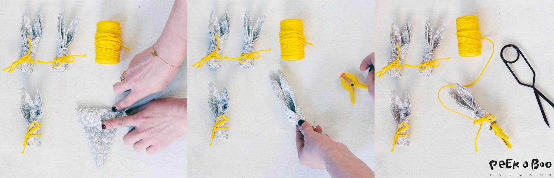 Folding Bunny napkin tutorial step-7-9