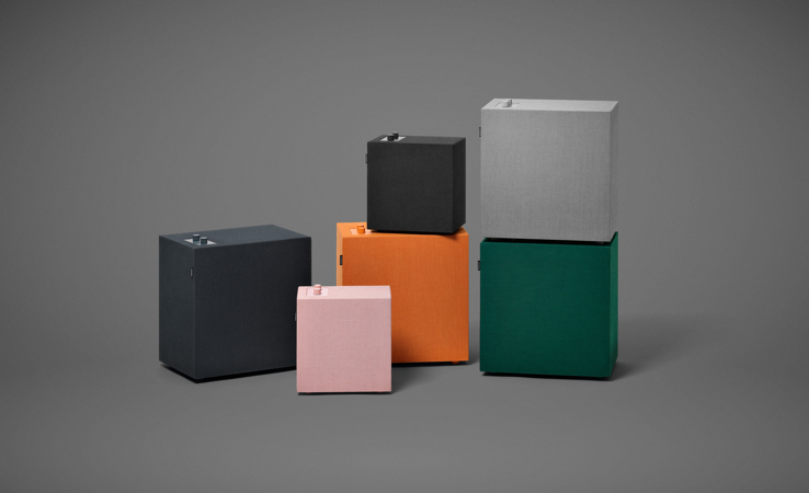 "The swedish brand Urbanears makes these ""connected speakers"" in 6 colours and 2 sizes,."