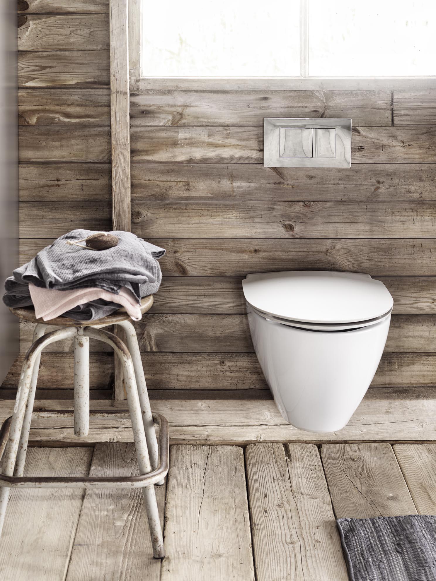 Ifö Spira Art Rimfree, elegant og rengørings venlig væghængt toilet.