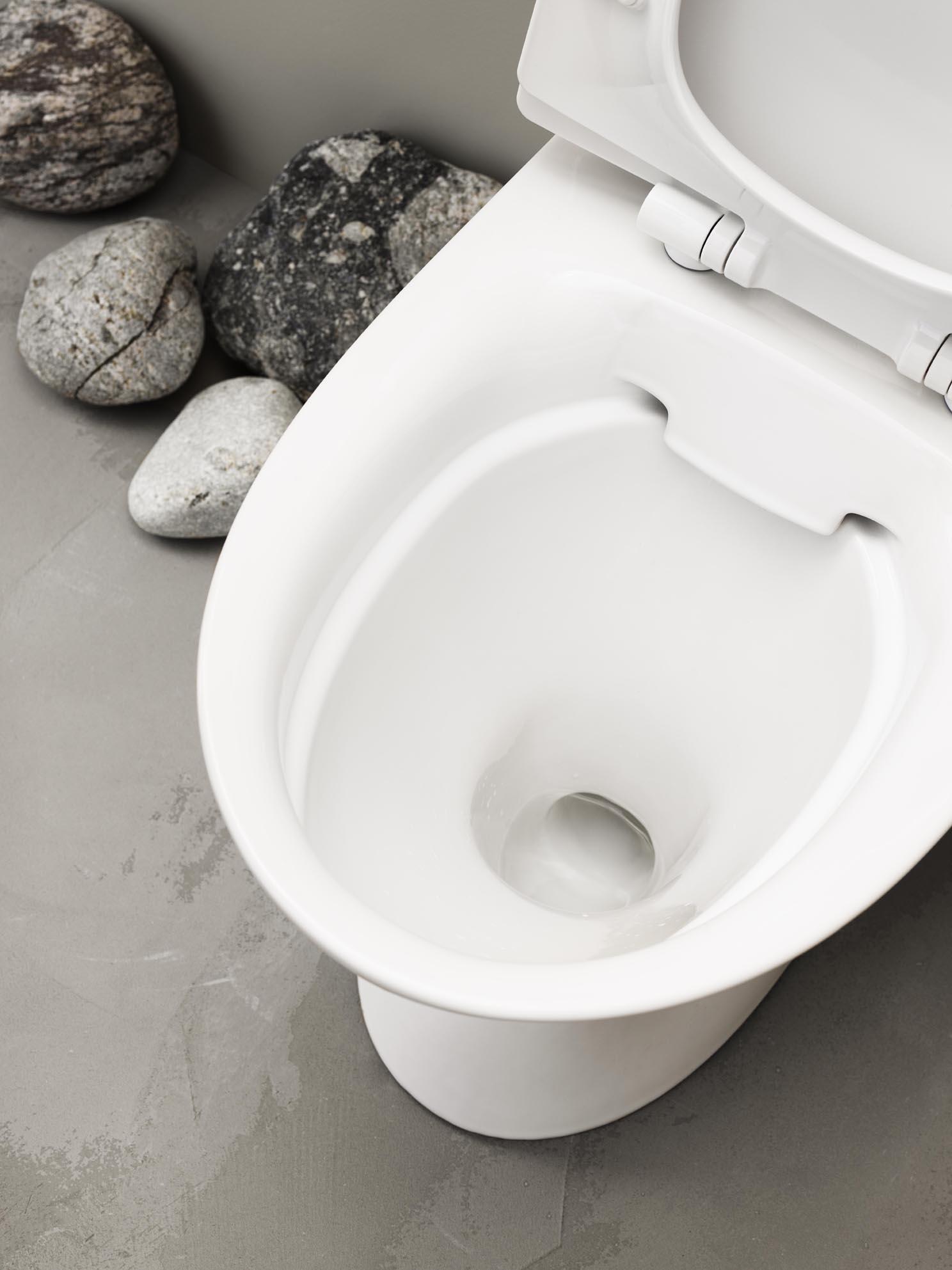 IFÖø s toiletter har en speciel glasur der er let at rengøre, den kalder de Ifö clean.