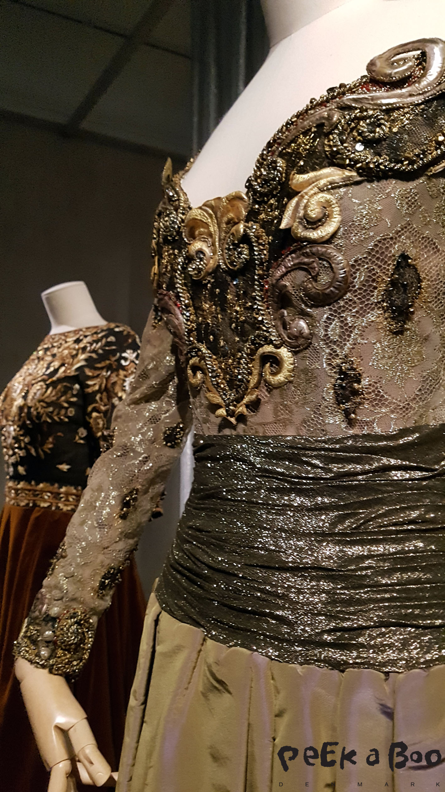 jean-Louis Scherrer creations with impressive embroidery work.