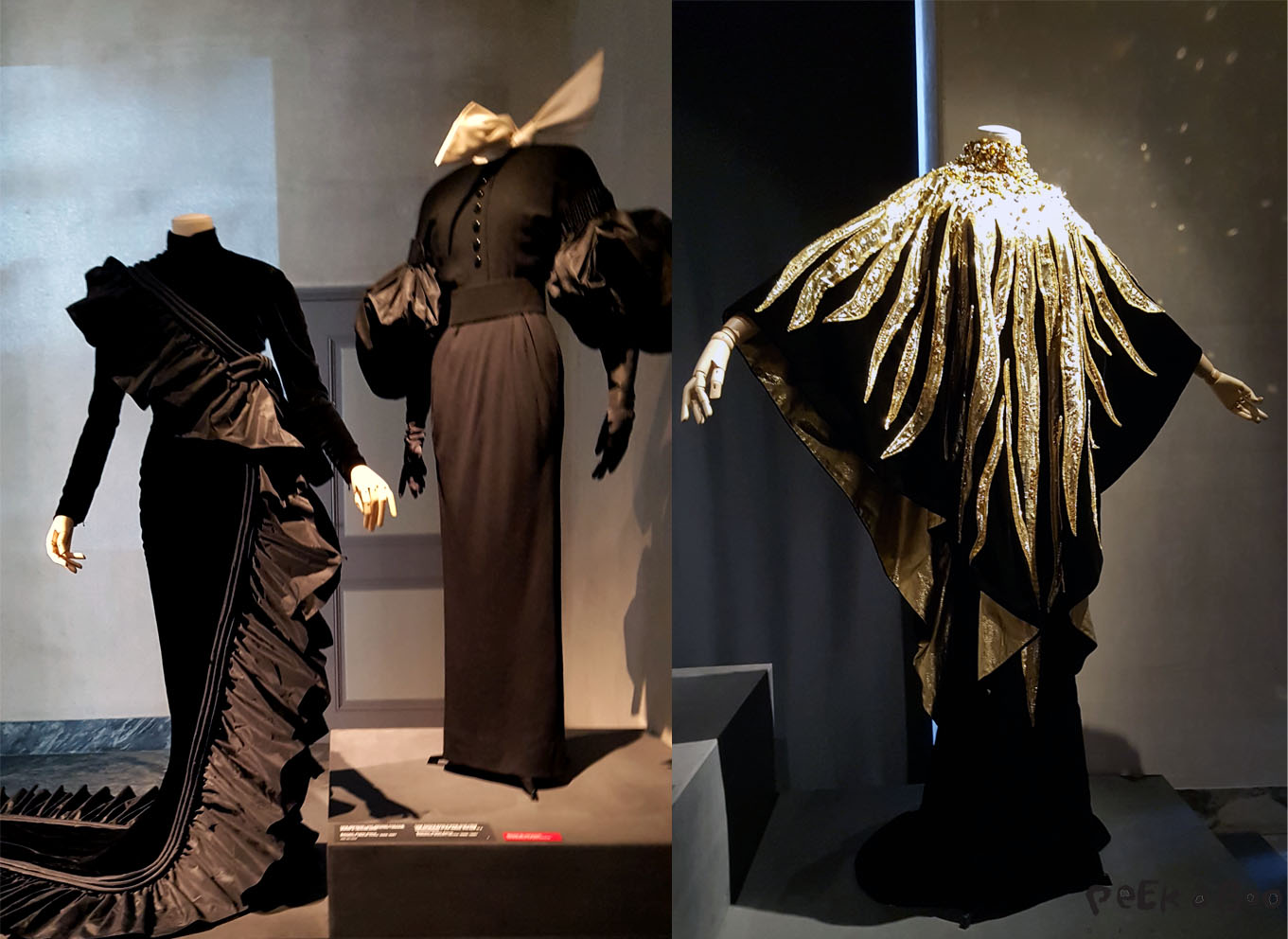 I am black Velvet, the exhibition at Designmuseum Danmark, that shows more than 100 dresses designed by Erik Mortensen.I am black Velvet, the exhibition at Designmuseum Danmark, that shows more than 100 dresses designed by Erik Mortensen.