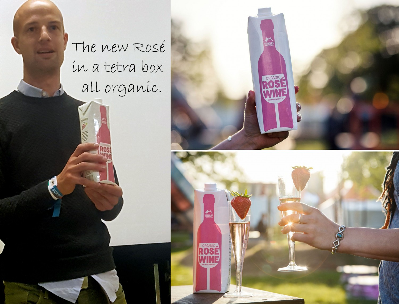 Biodynamic rose wine for the Roskilde festival.