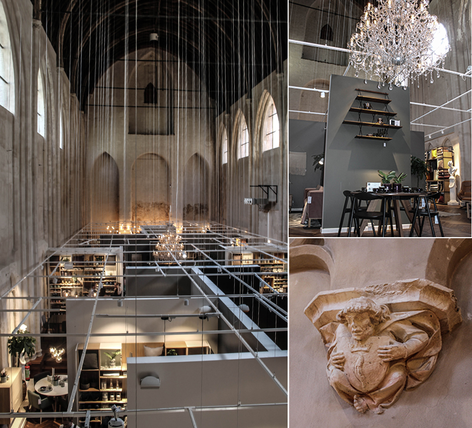 New Bolia shop in Gent, Belgium. It is in an old church. Super cool !