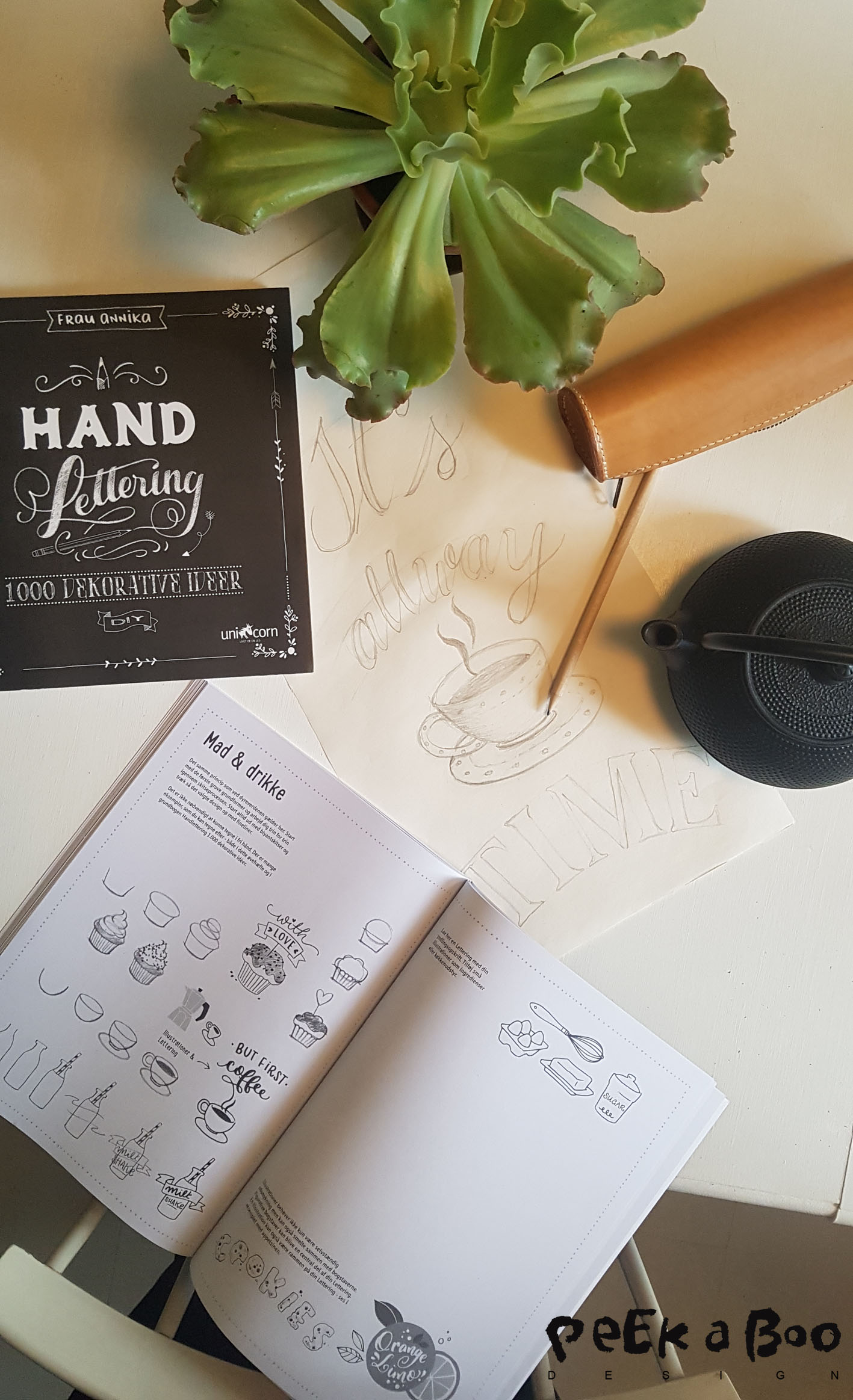 the book Handlettering in danish from forlaget unicorn.