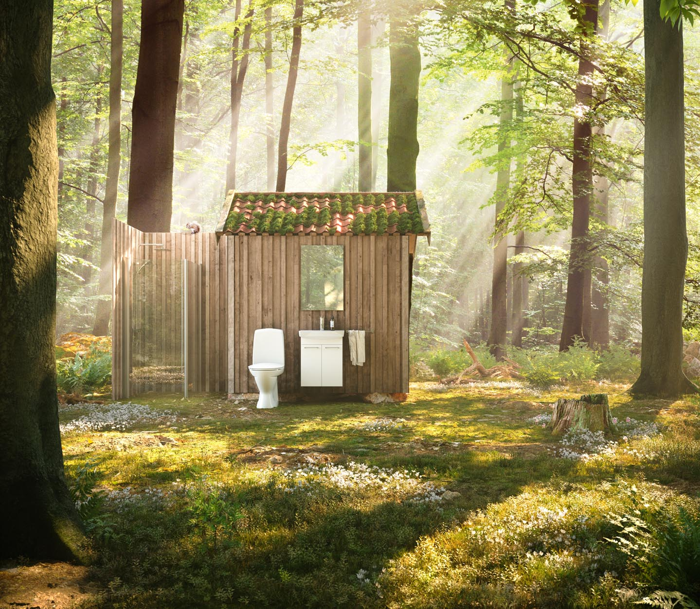 Ifö are focusing on the environment when they design their toilets, so the water consumption is kept to a minimum.