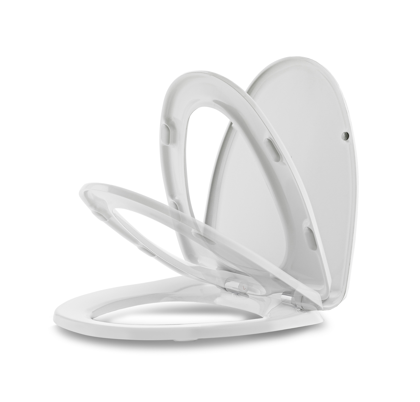 Soft close toilet seat, that is the perfect sollution. You can find this one here.