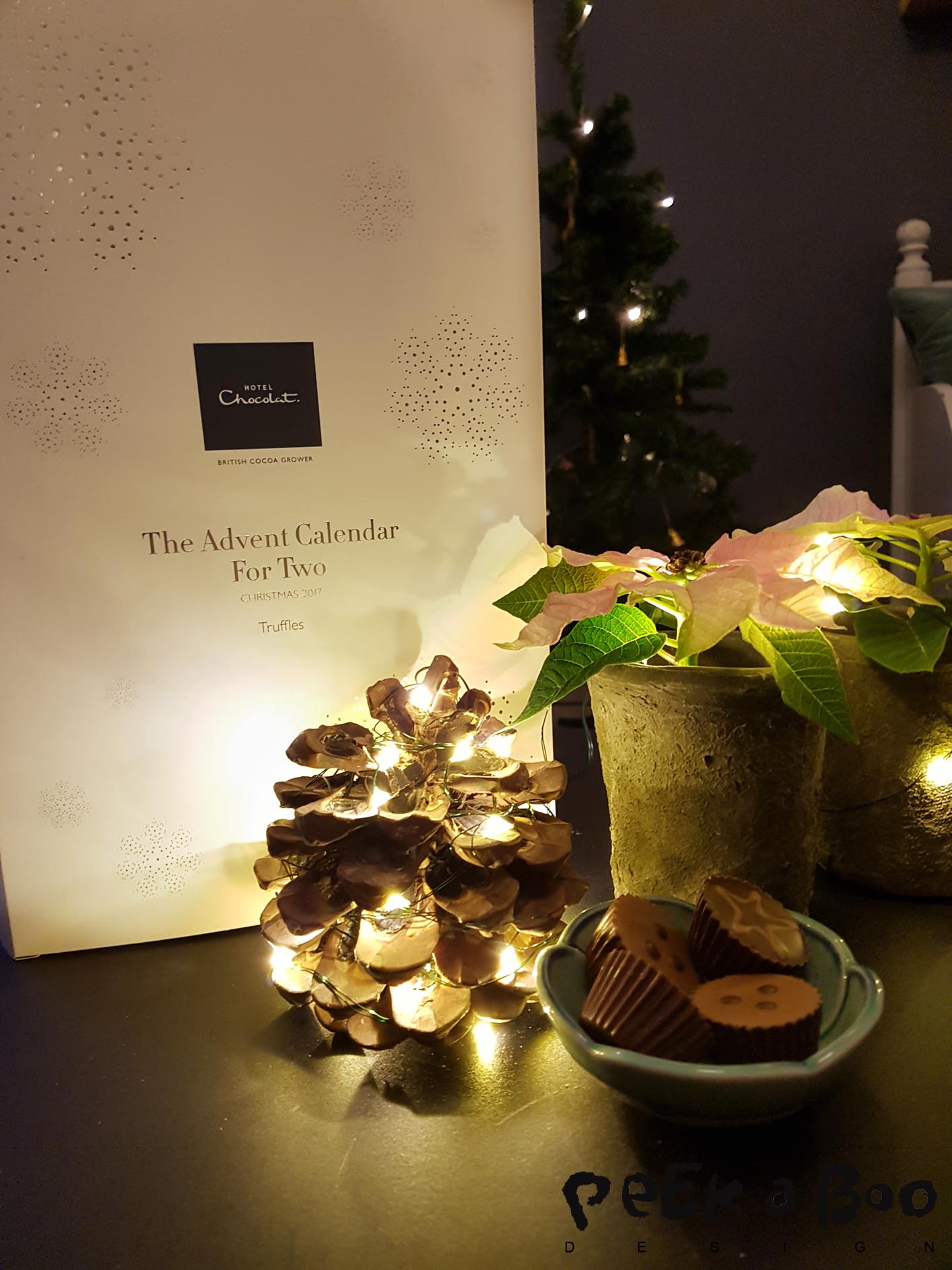 Giveaway on instagram...You can become the lucky winner of this Advent calendar for two from Hotel Chocolat