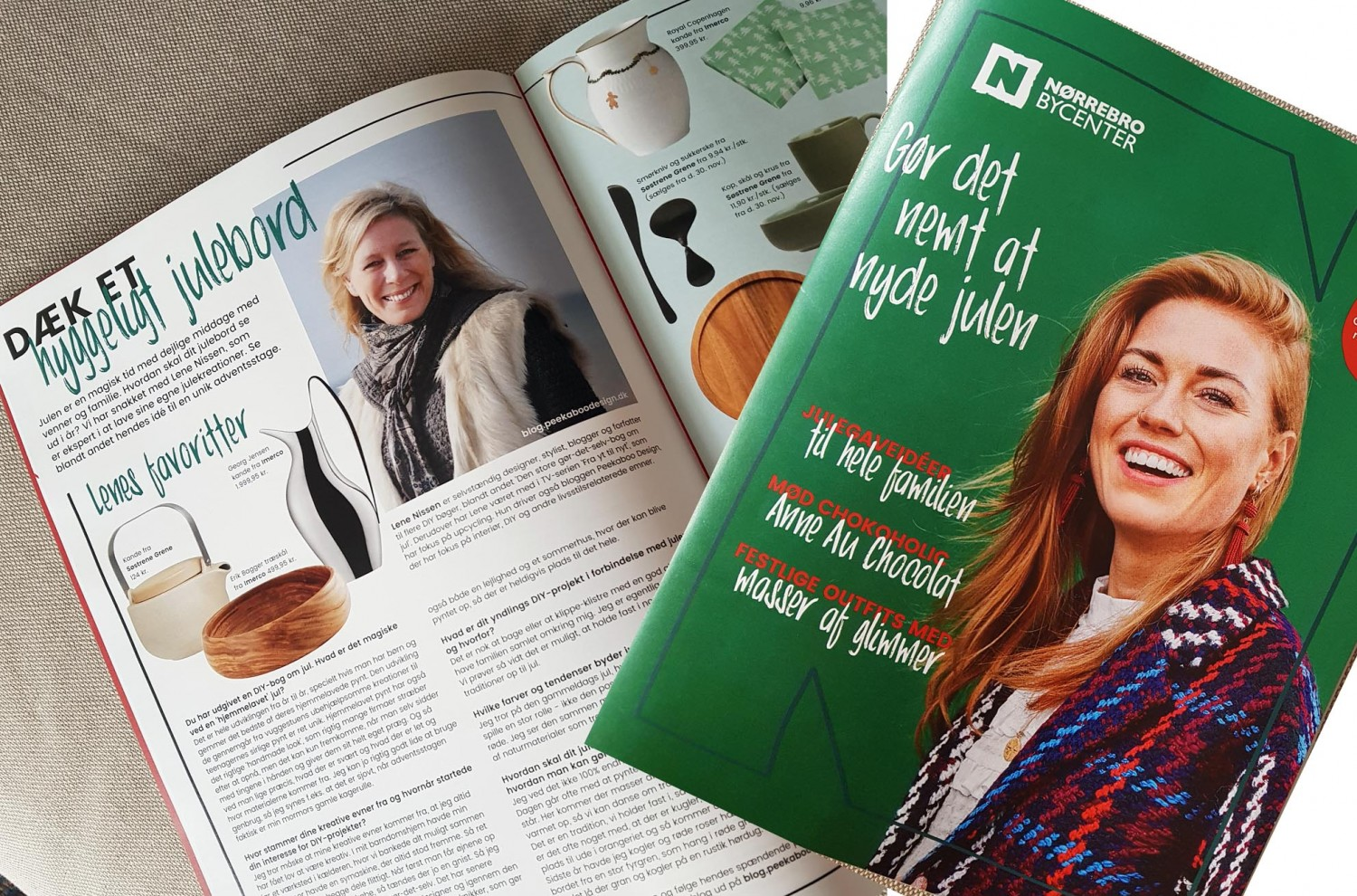 Me and some DIY's from my christmas book is beeing featured in Nørrebro Bycenters juleblad.