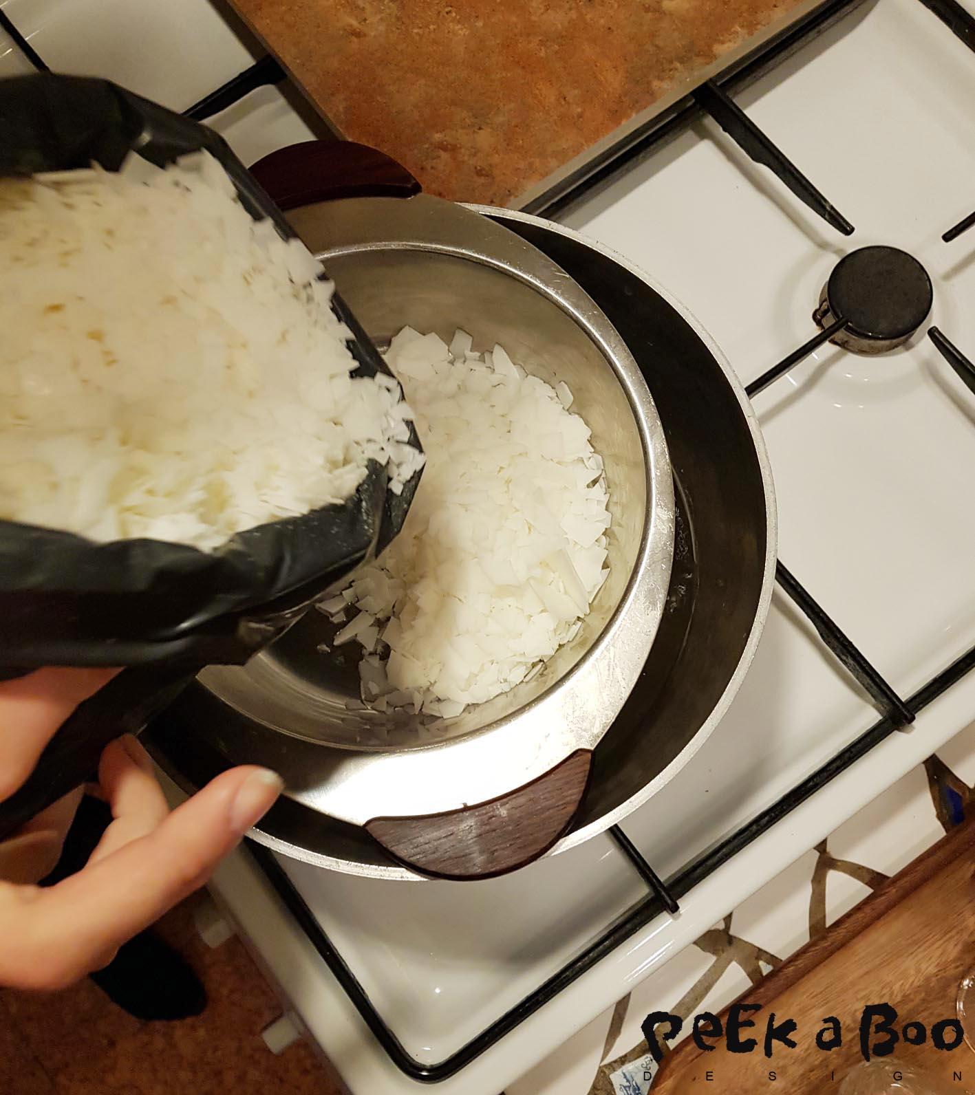 heat the soyawax so it melts