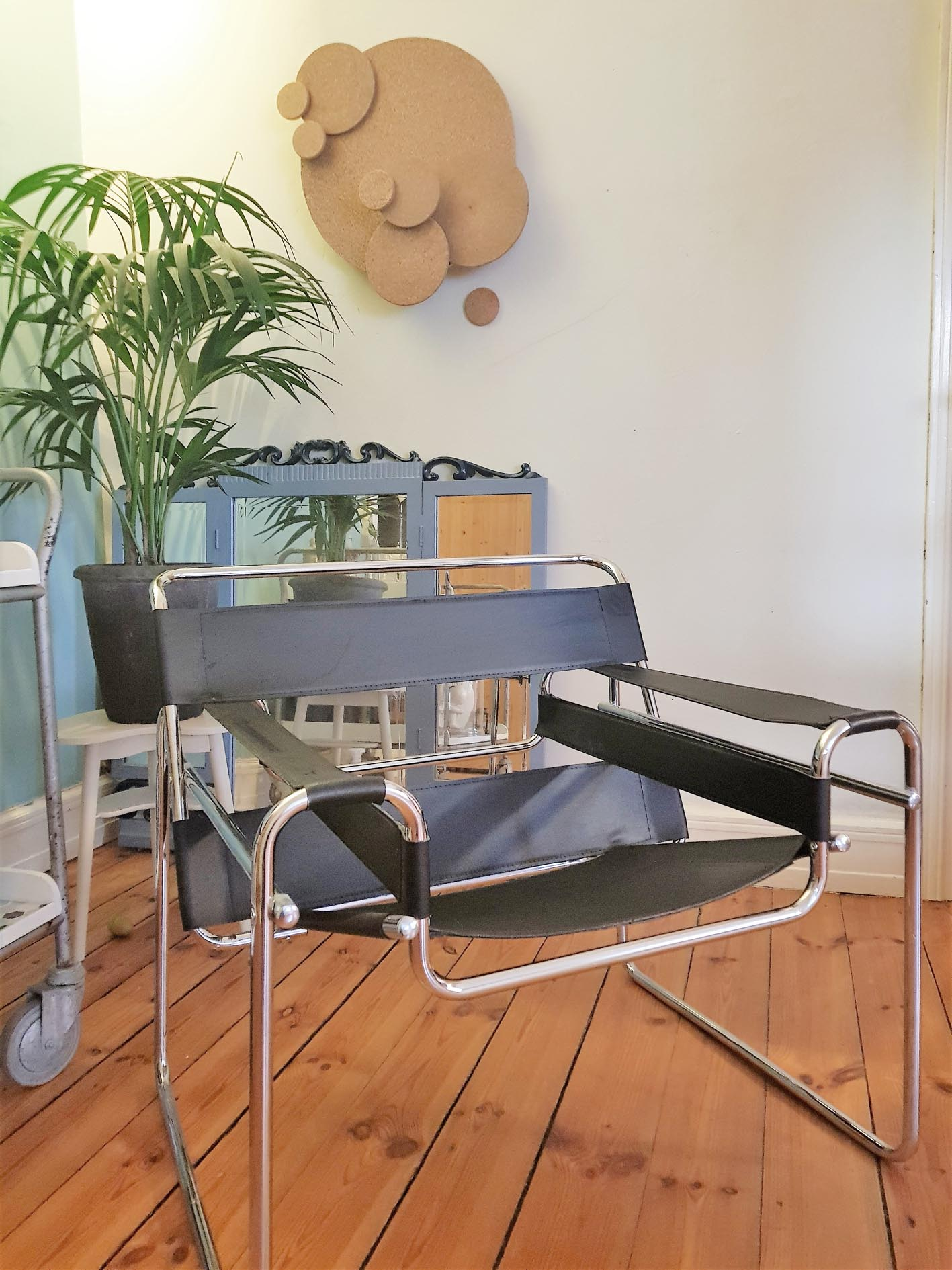 Wassily lounge chair designed in 1925 by Marcel Bauer who was at the Bauhaus at that time.