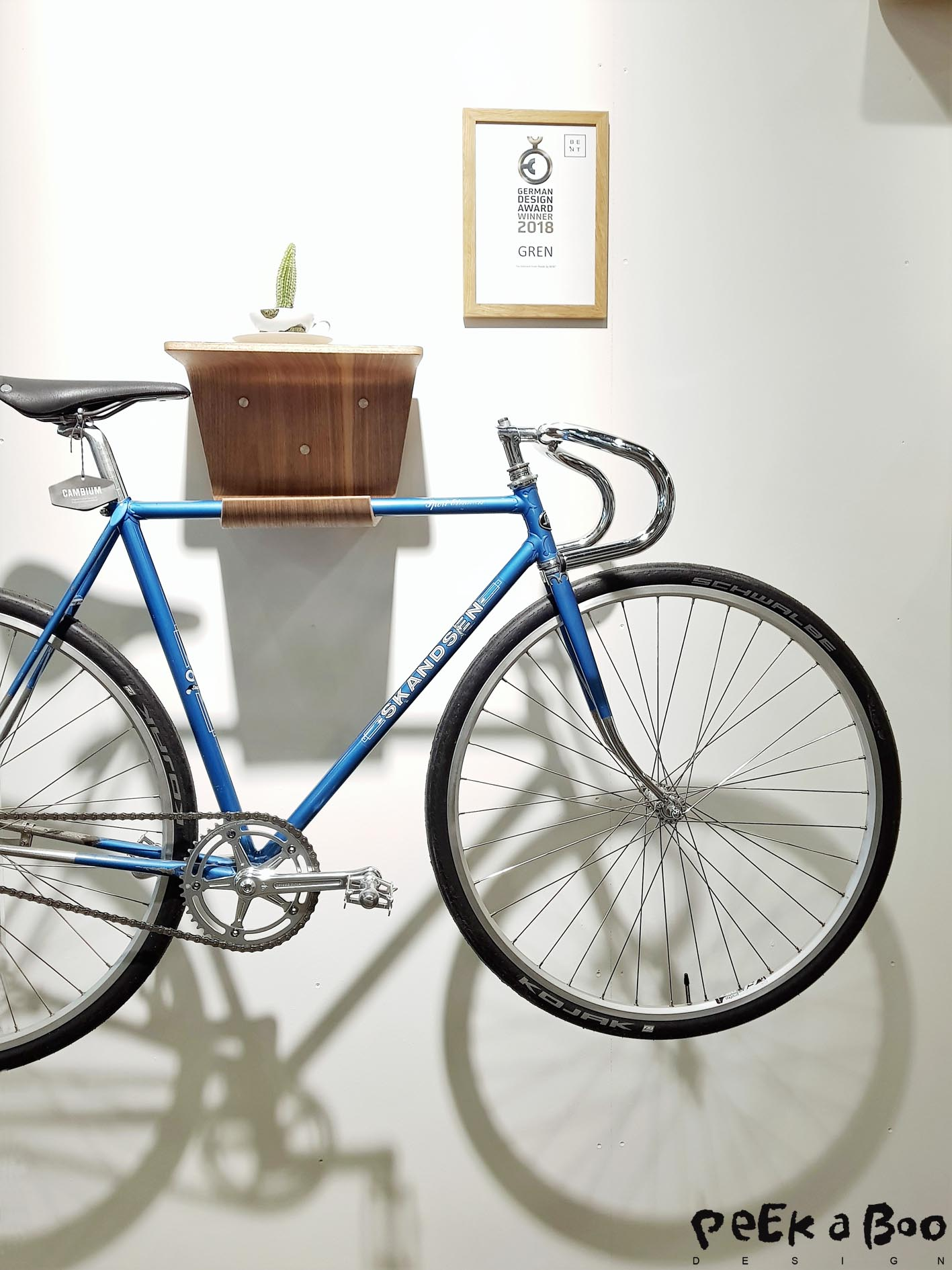 this bike rack is made by madebybent danish design produced in Hamburg, Germany.