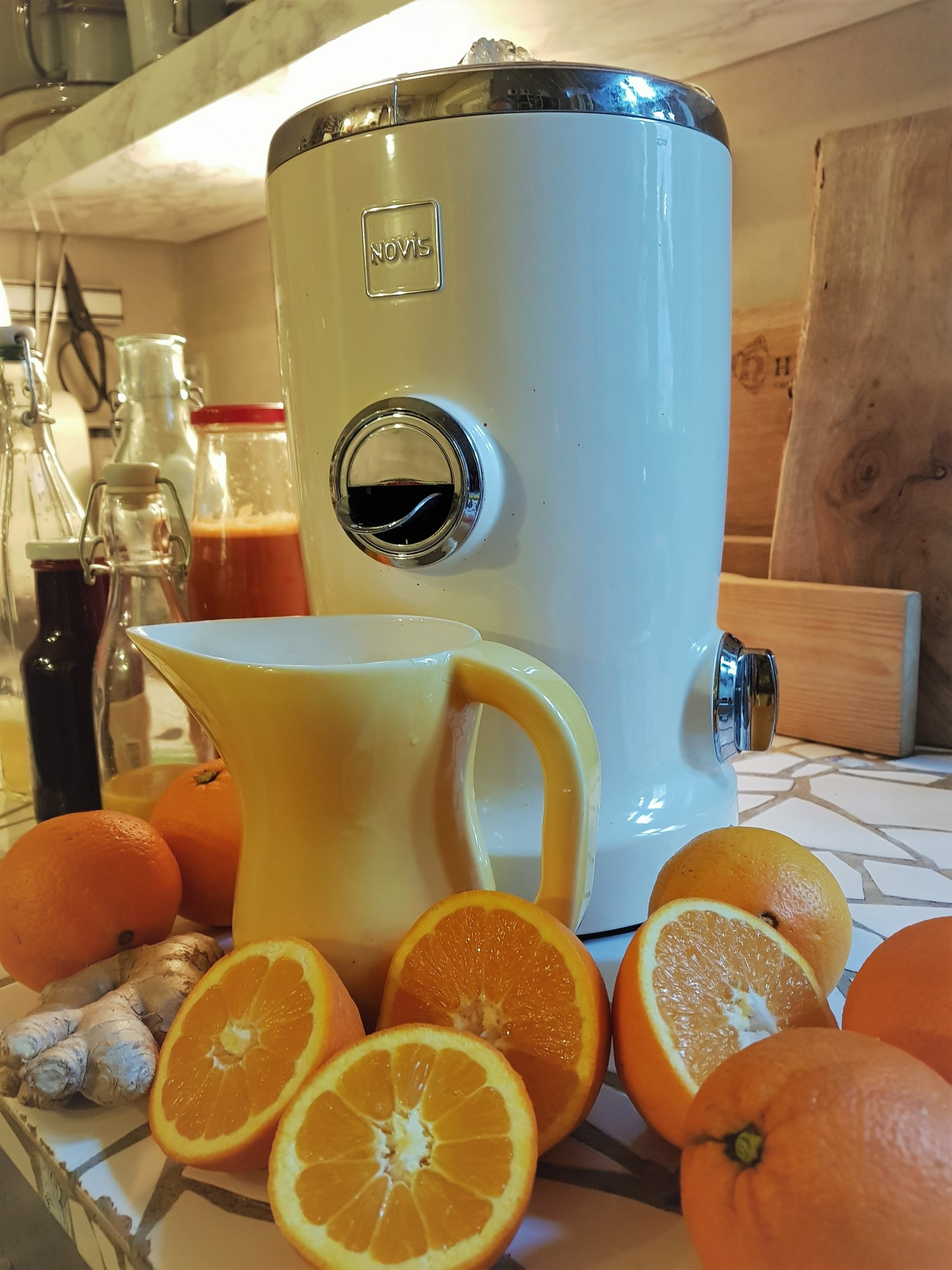 At this time of year it is really a good help with a juicer to get a lot of vitamin C. I use it in any juice .