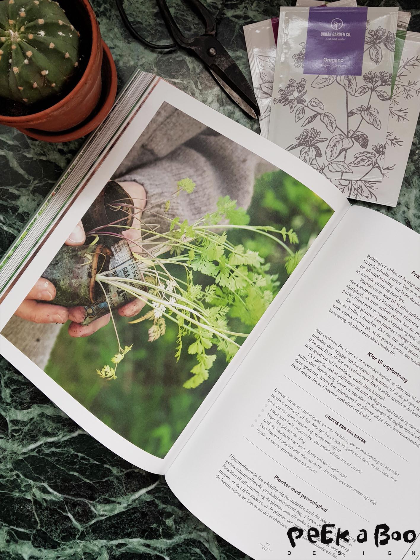"The new garden book  ""Slip haveglæden løs"" from Lotte Bjarke."