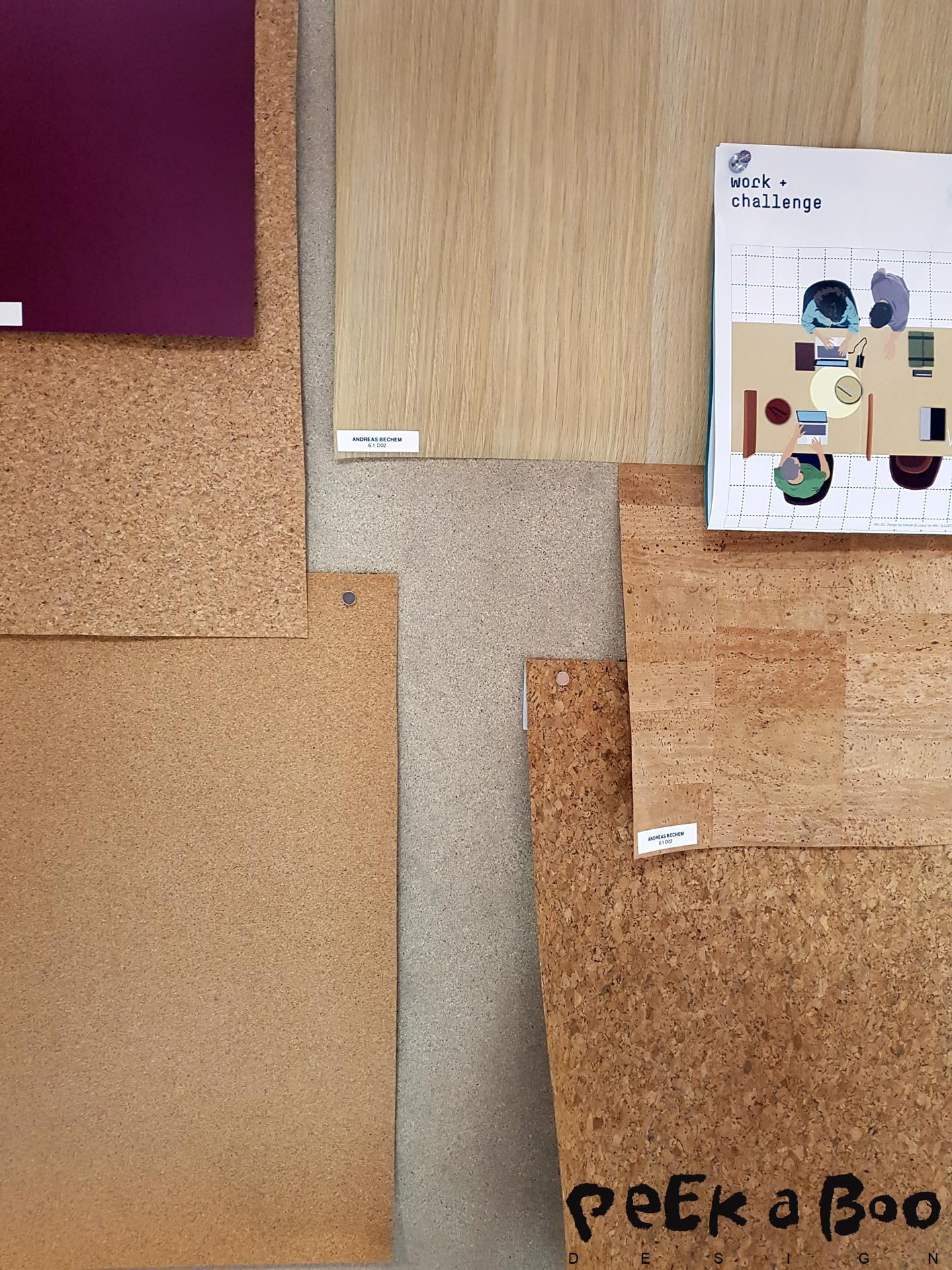 At the trendzone at Paperworld you could see examples of cork paper.