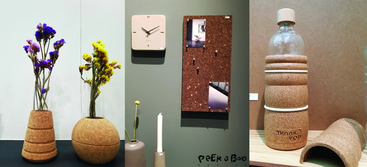 Examples of designs made from left corkis, blomus and Natures Design all seen at Ambiente.