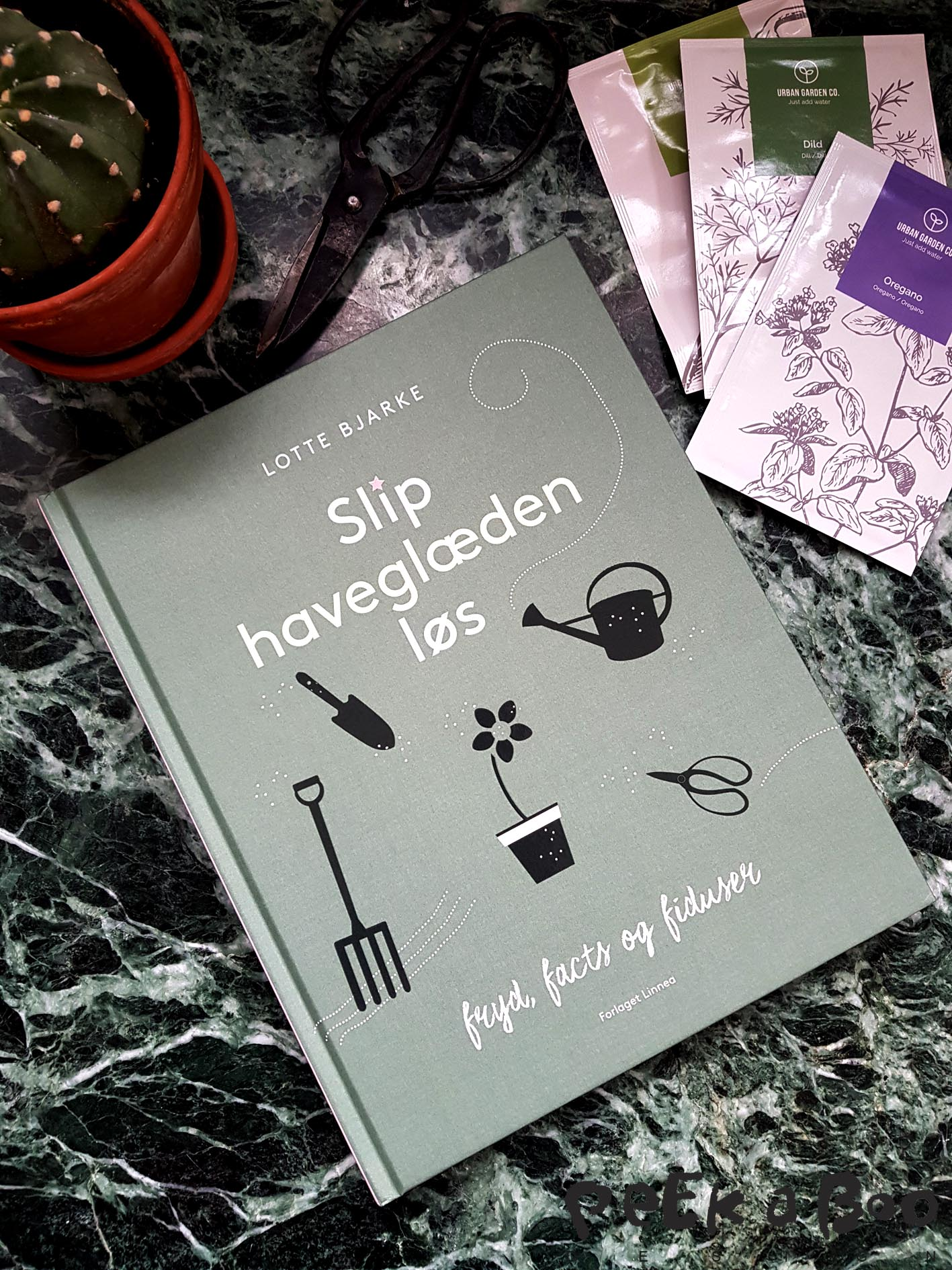"The new book from garden specialist Lotte Bjarke. It is in danish and called "" Slip haveglæden løs"" in english ""let your inner garden-passion loose"""