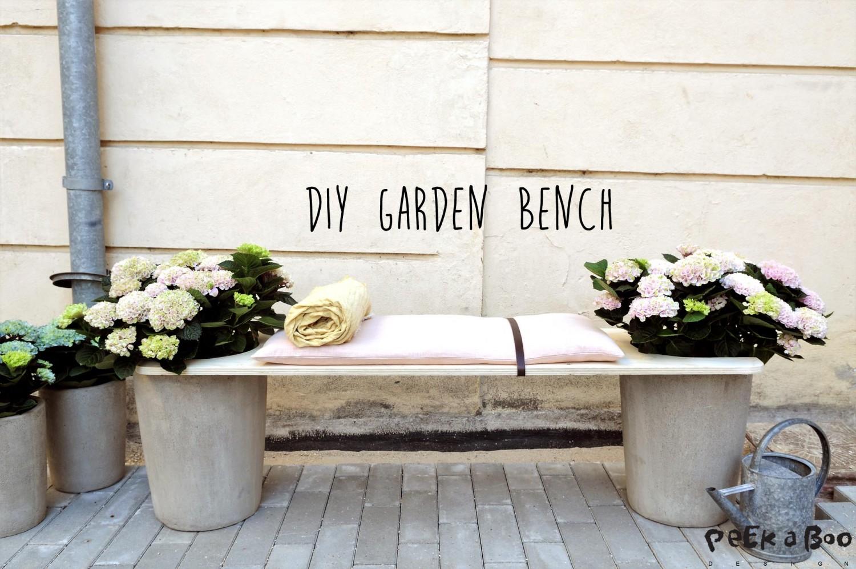 DIY garden bench you easily can make.