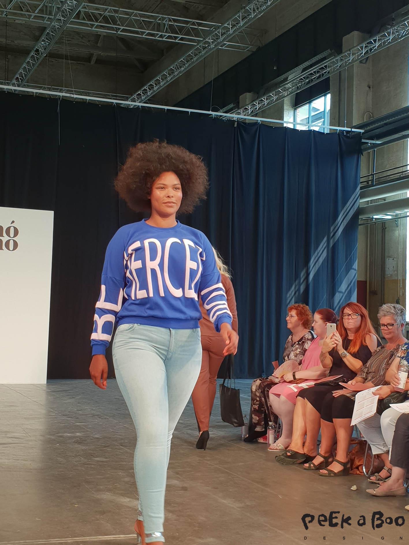 Annoanno plussize fashionshow at the Copenhagen fashion week.