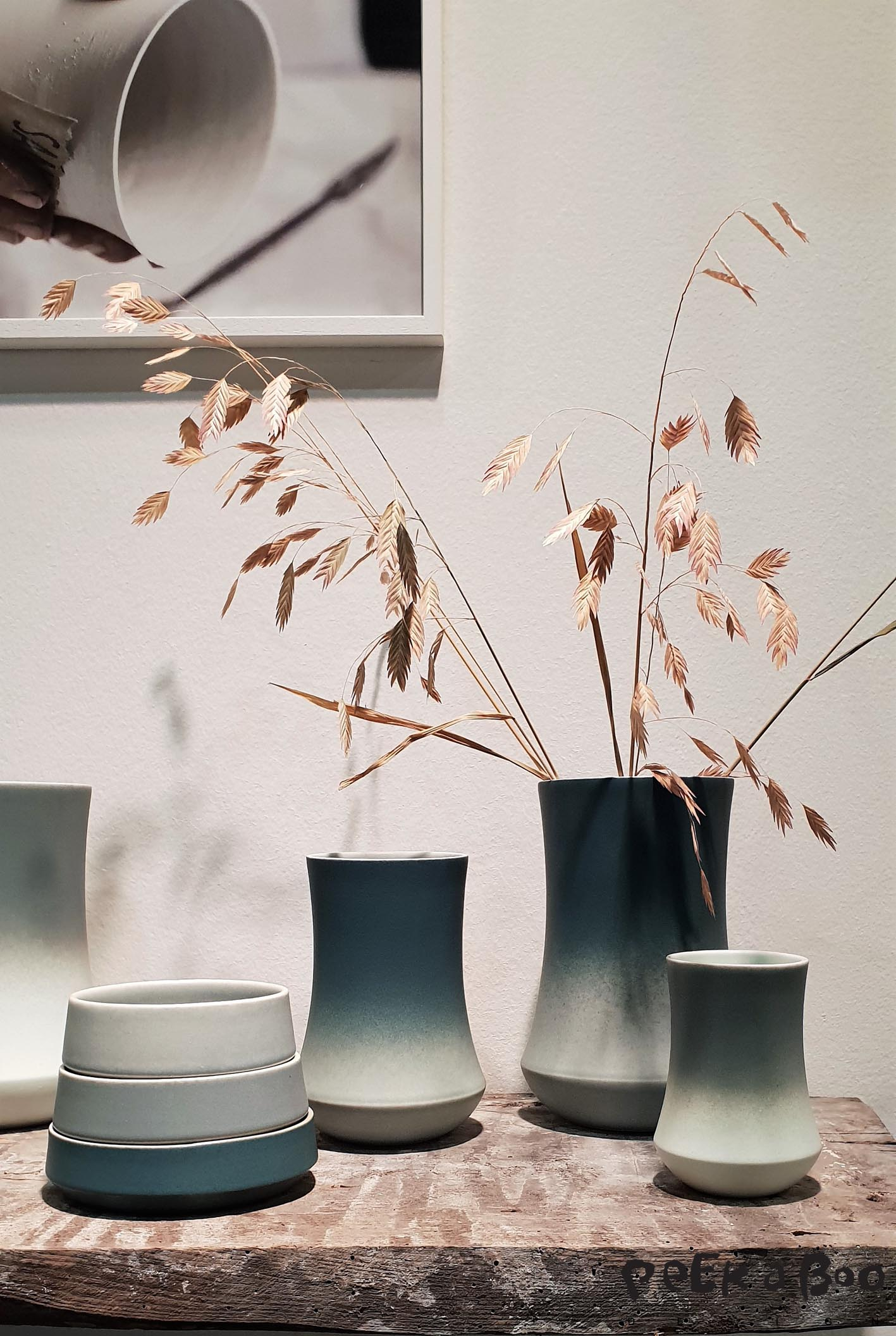 Bamboo inspired stack vases from Vildersbøll.