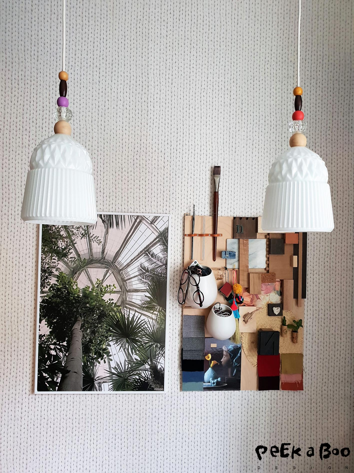 the Ikea lamps got a personal touch with the wooden beads. Ikea hacks rocks !
