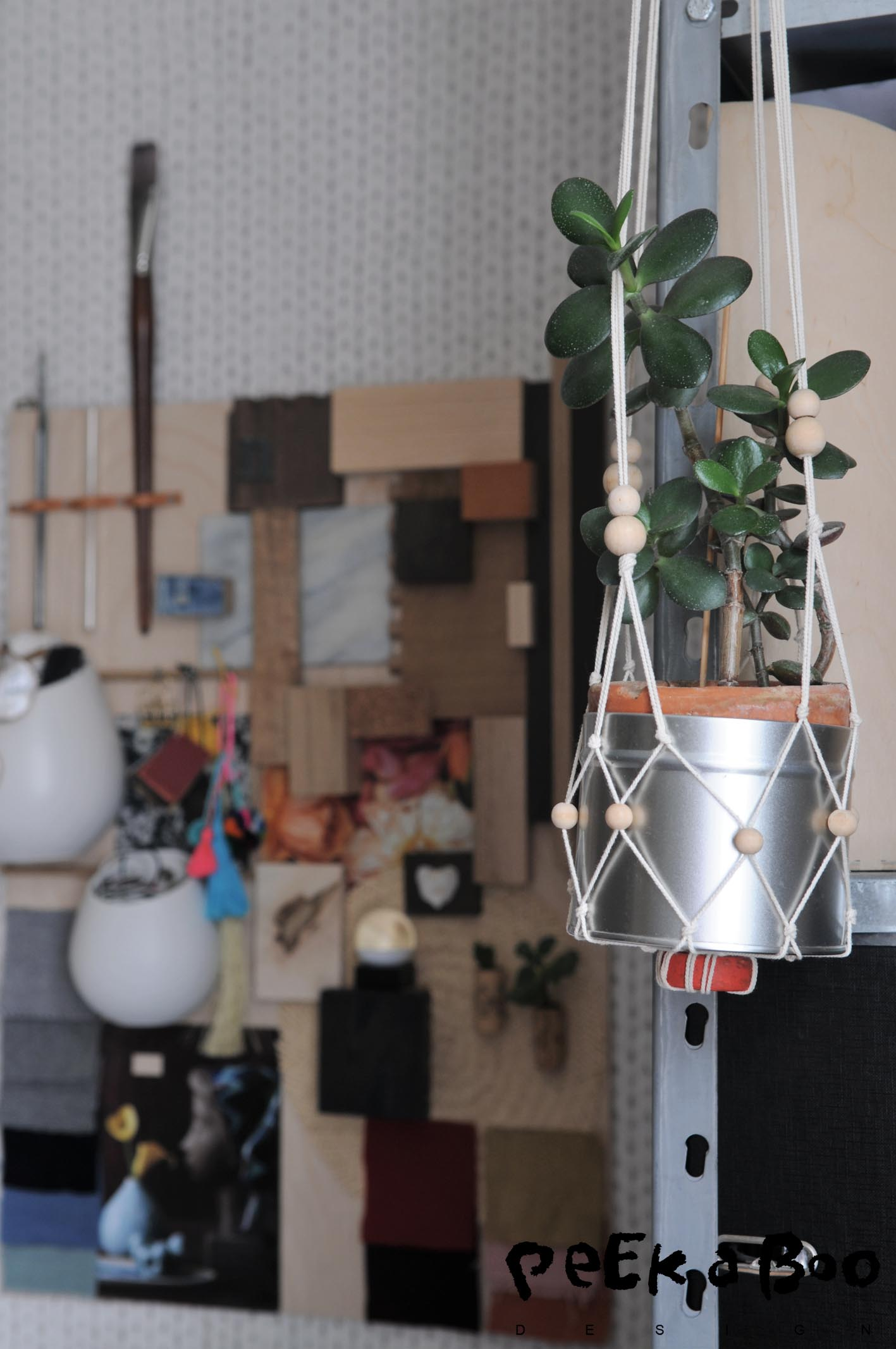 There is always space for a hanging plant.