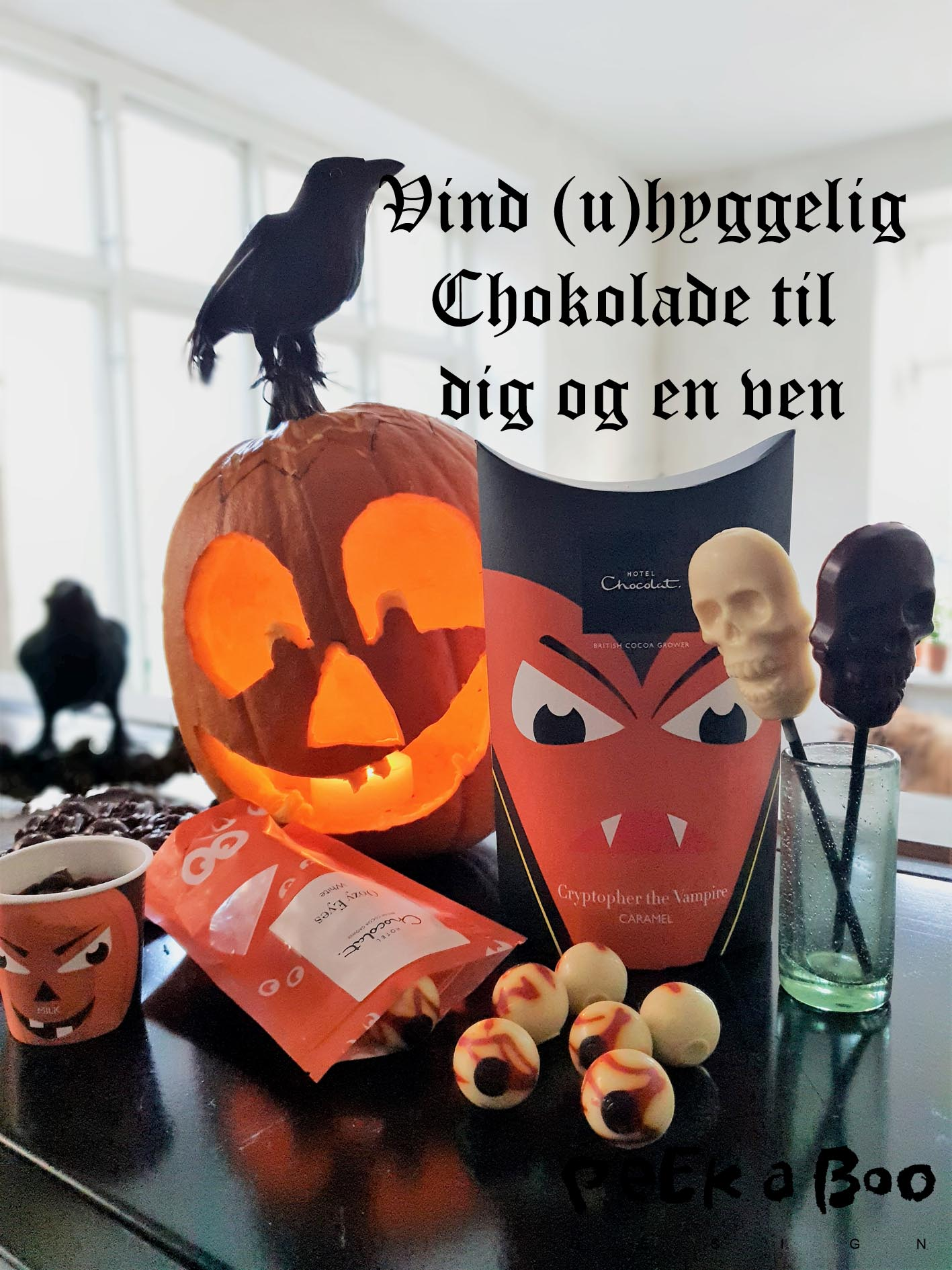 Halloween konkurrence med Chokolade fra Hotel Chocolat