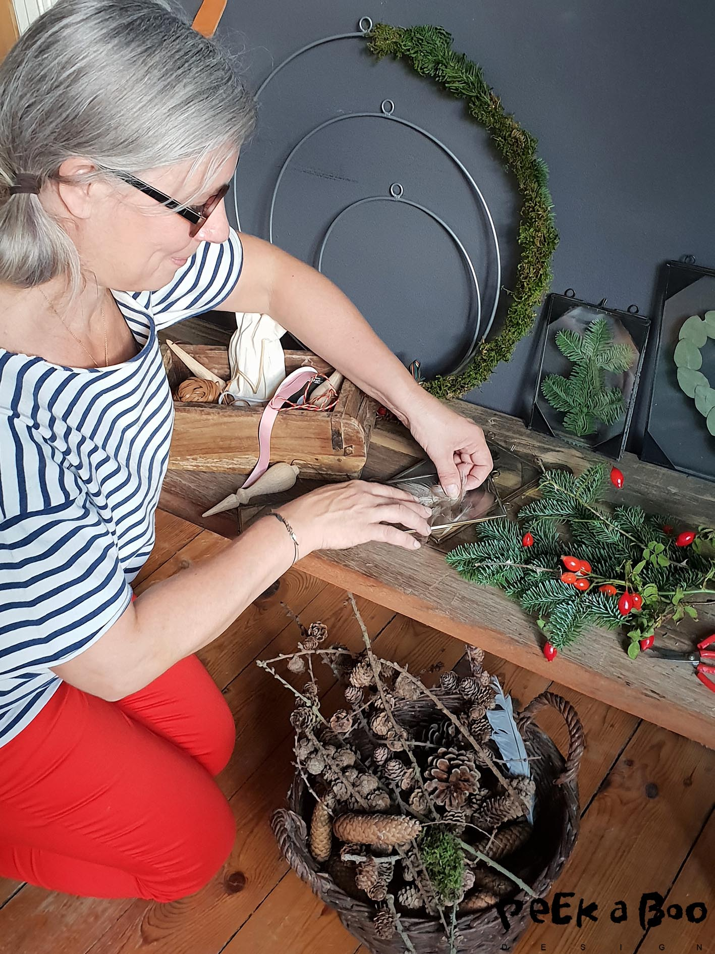 me doing some of the christmas styling for Søndag. A weekly danish magazine.