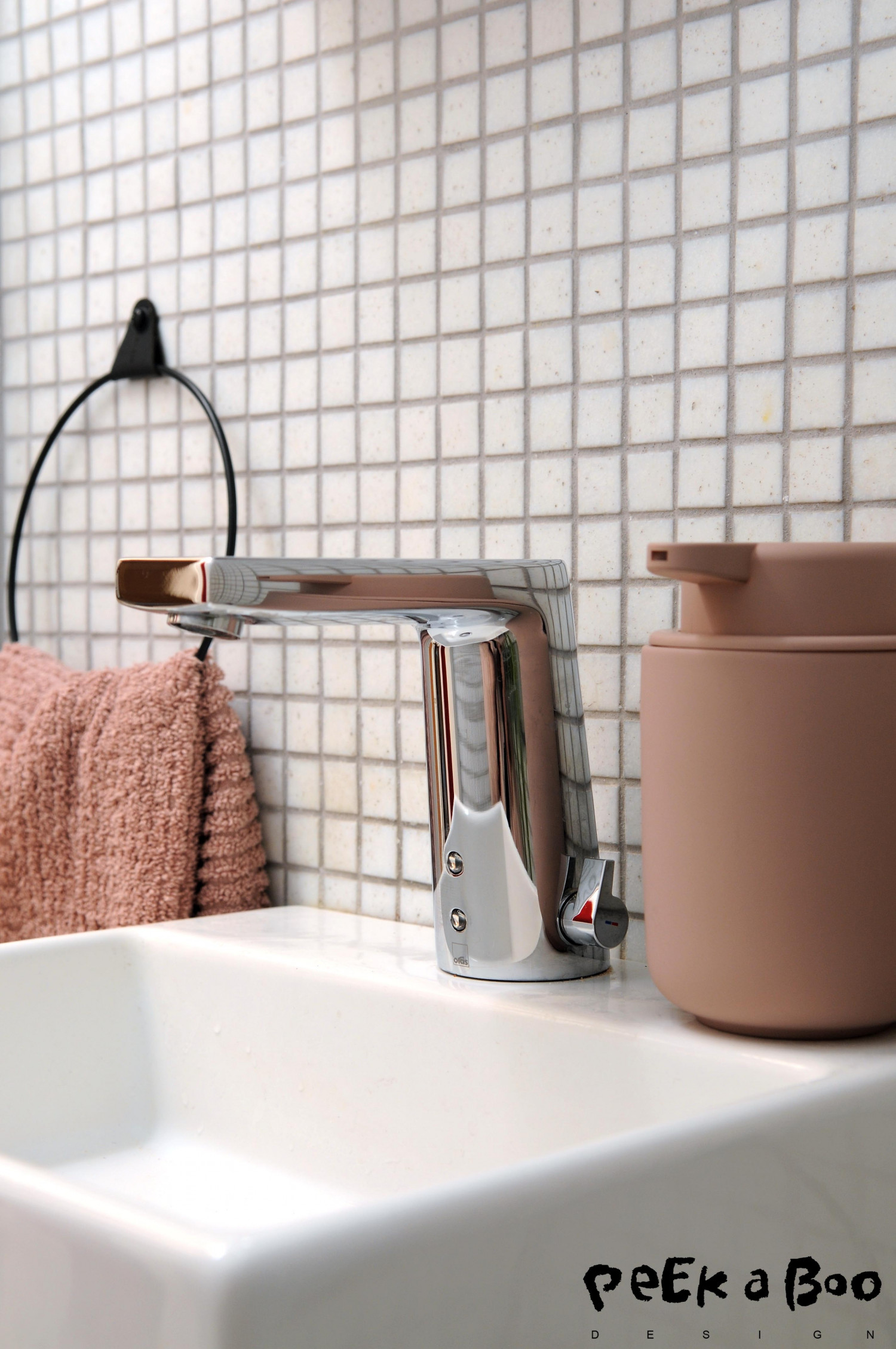 The new Oras luminaire electra on the toilet.